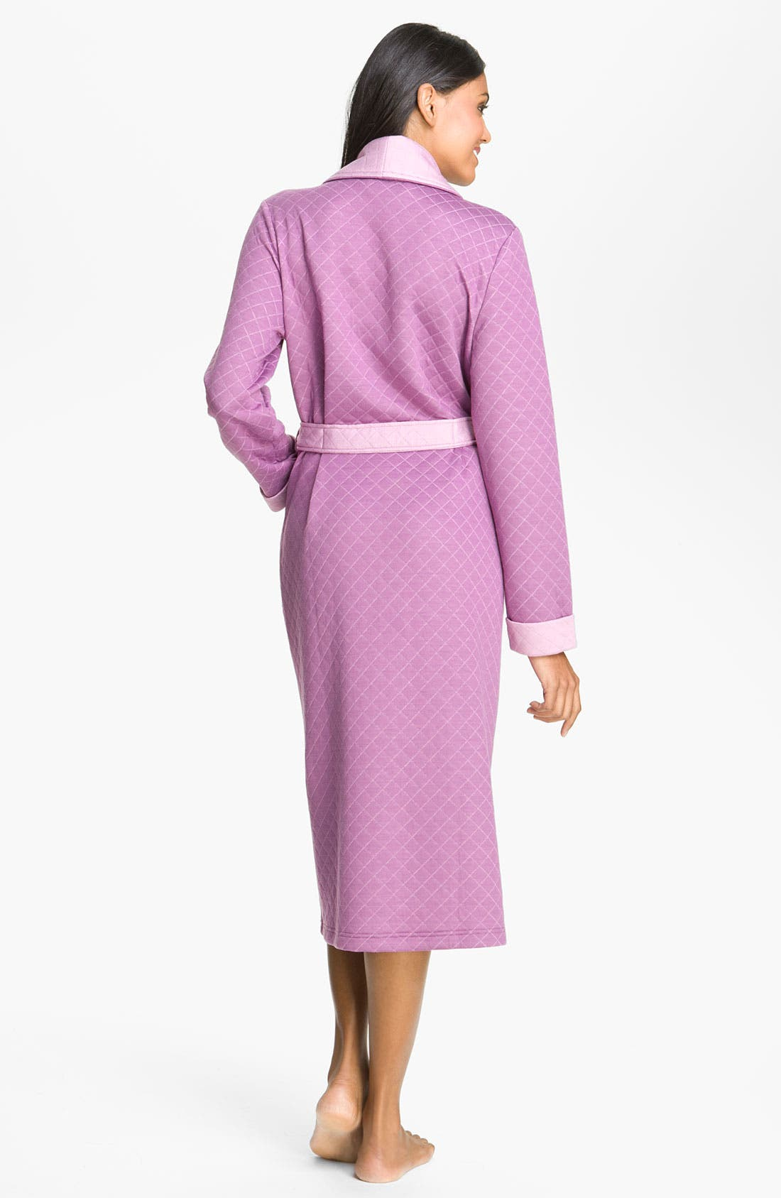 Alternate Image 2  - Nordstrom Two Tone Quilted Robe