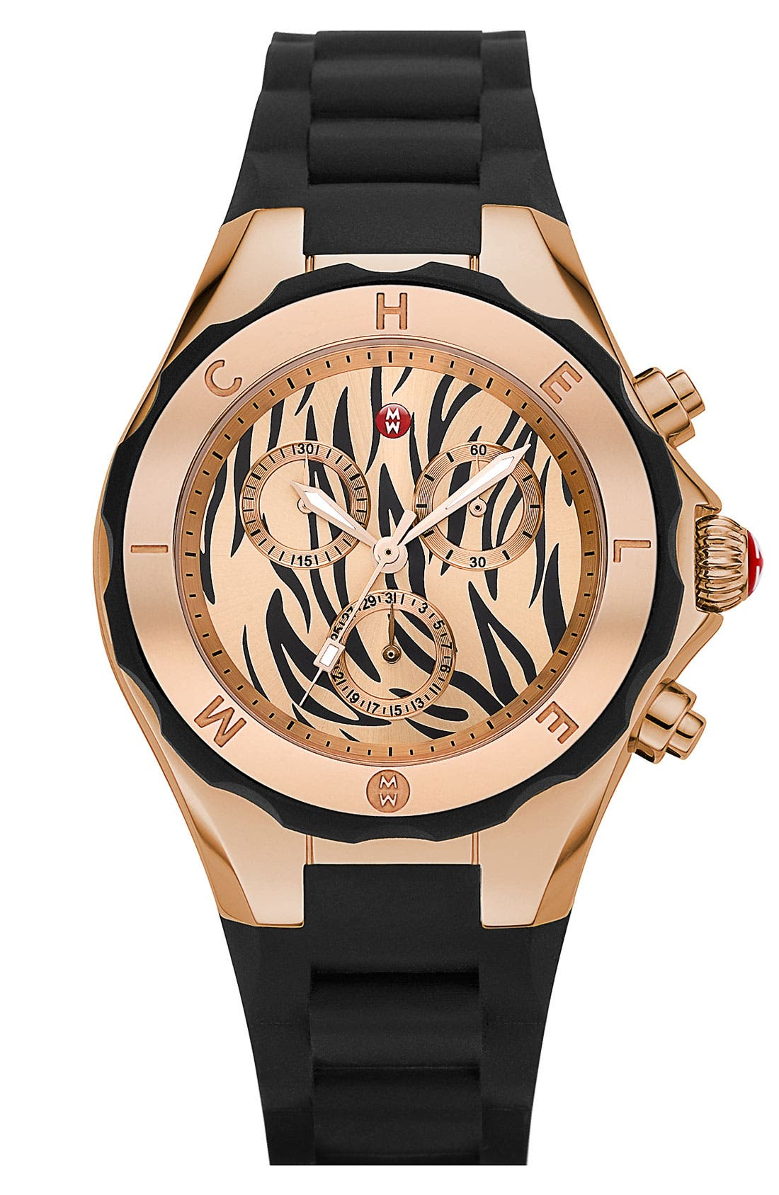Main Image - MICHELE 'Tahitian Jelly Bean' Zebra Dial Watch