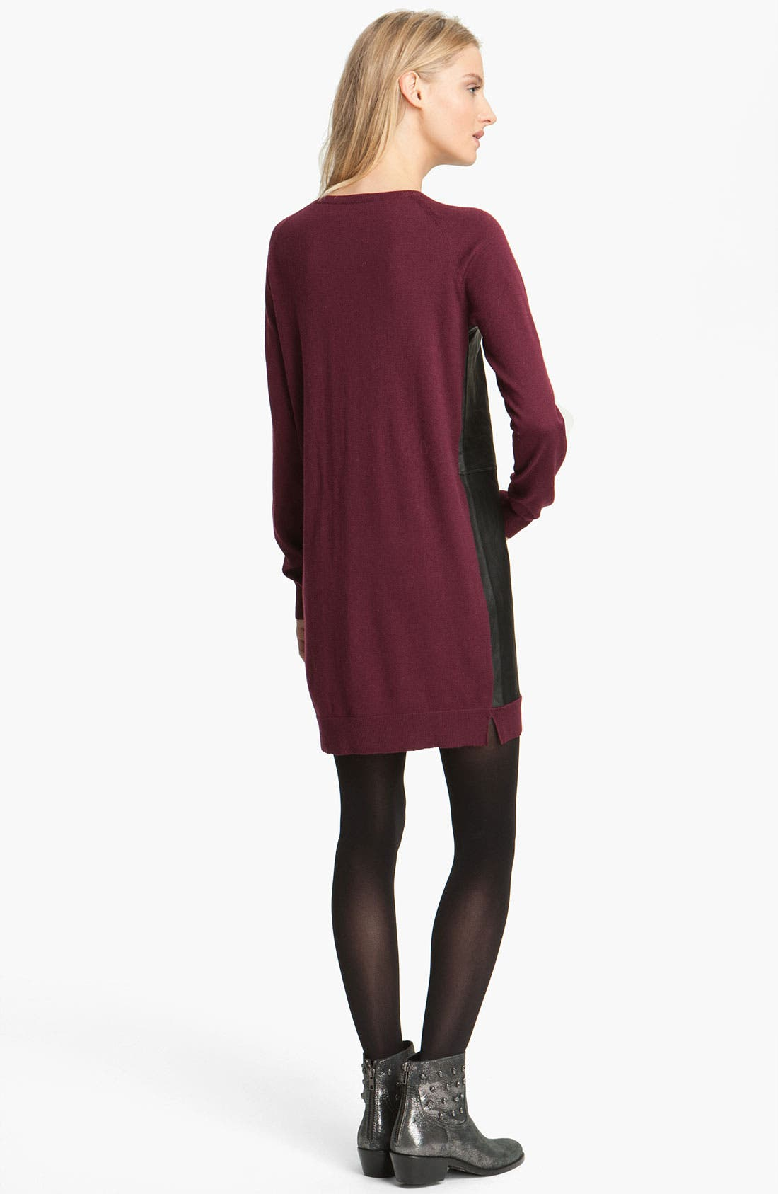 Alternate Image 2  - Zadig & Voltaire Leather & Knit Dress