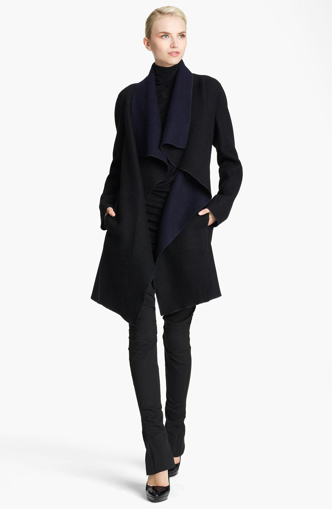 Main Image - Donna Karan Collection Draped Reversible Coat