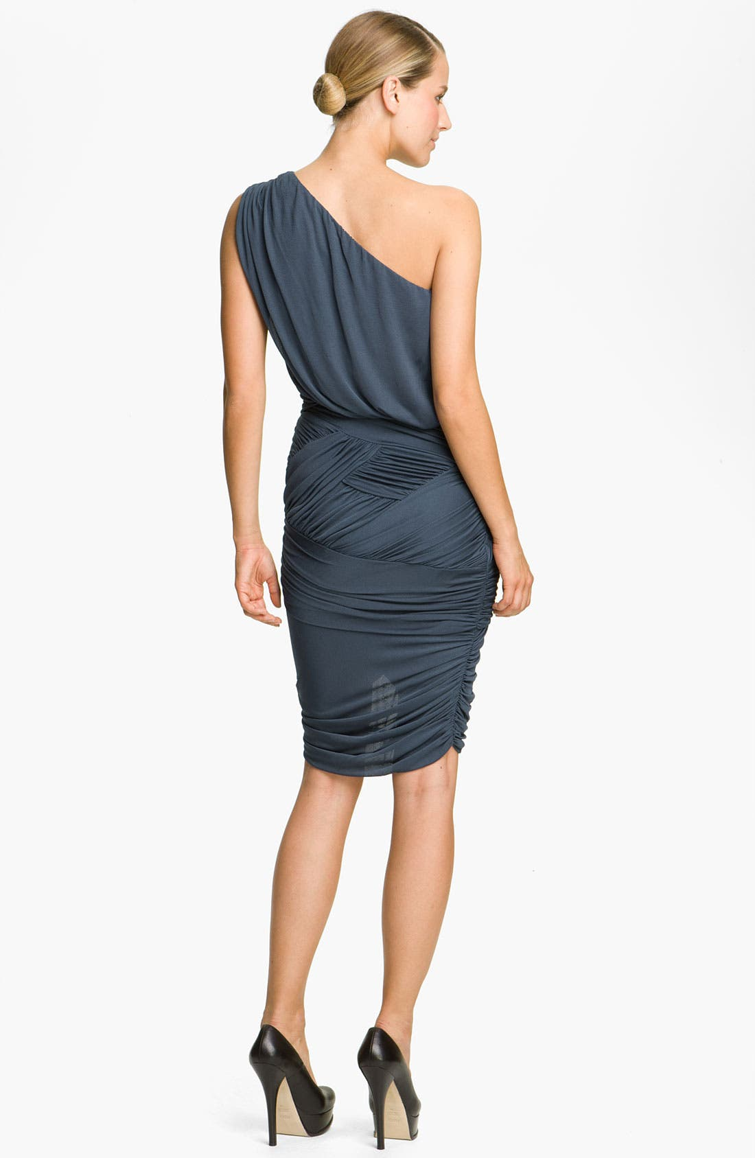 Alternate Image 2  - Halston Heritage Dresses Draped One Shoulder Dress