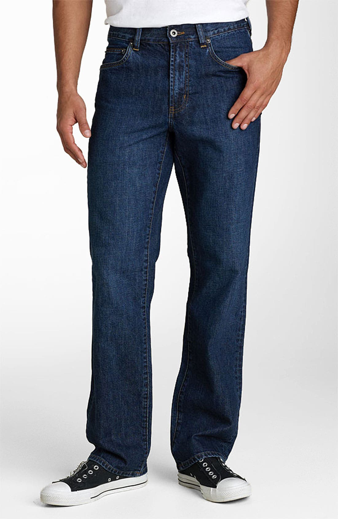 Alternate Image 1 Selected - Tommy Bahama Denim 'Stevens Park' Classic Fit Jeans (Dark)