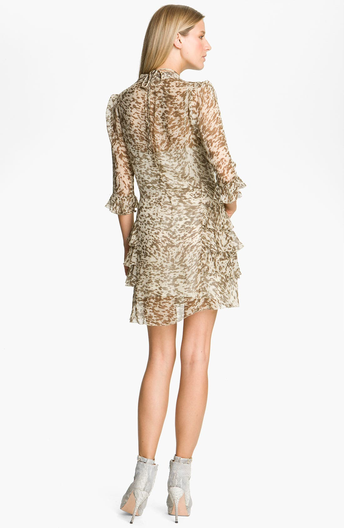 Alternate Image 2  - Skaist-Taylor Ruffled Chiffon Dress