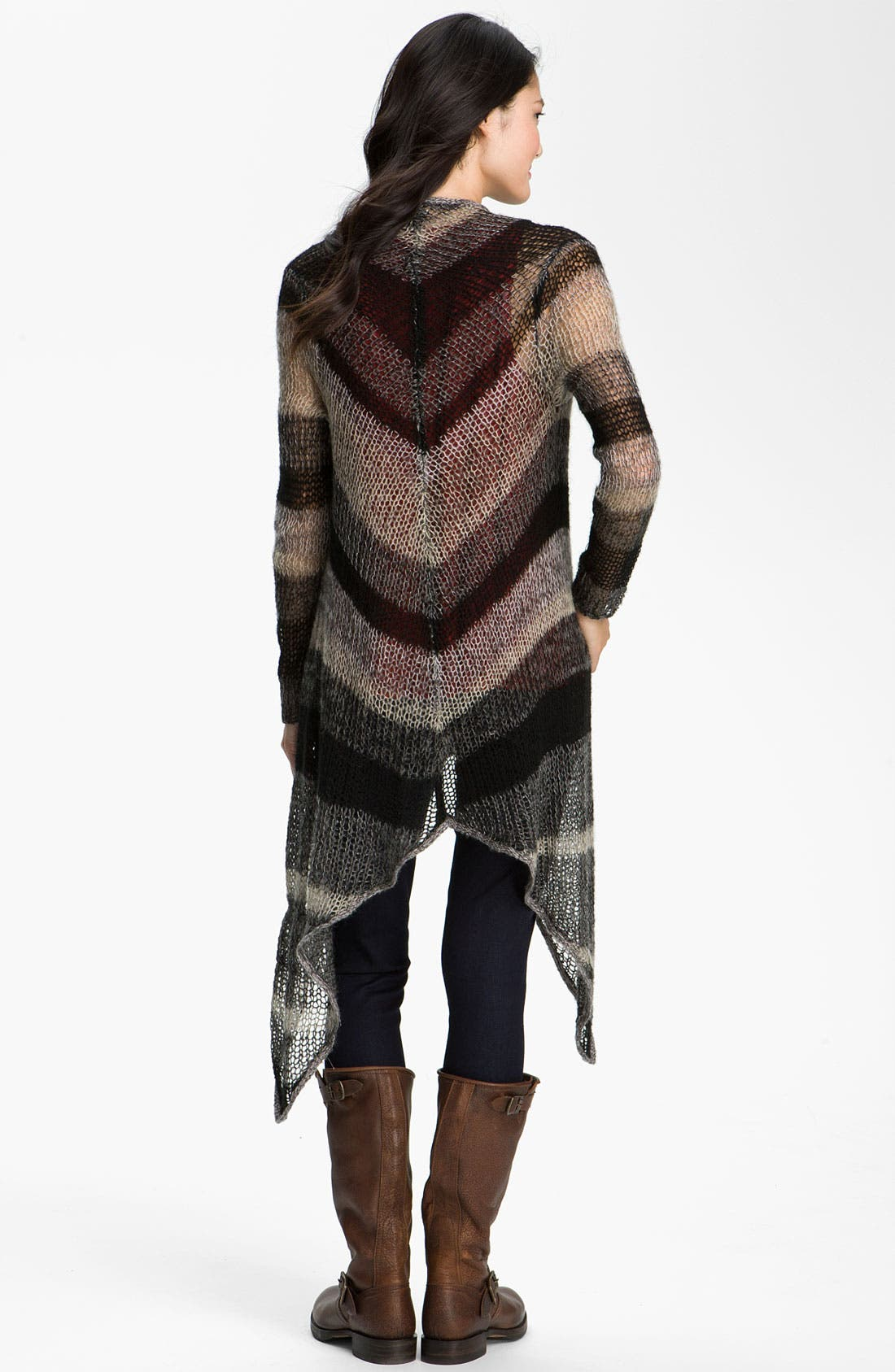 Alternate Image 2  - Lucky Brand 'Chevron Stripe' Long Wrap Cardigan