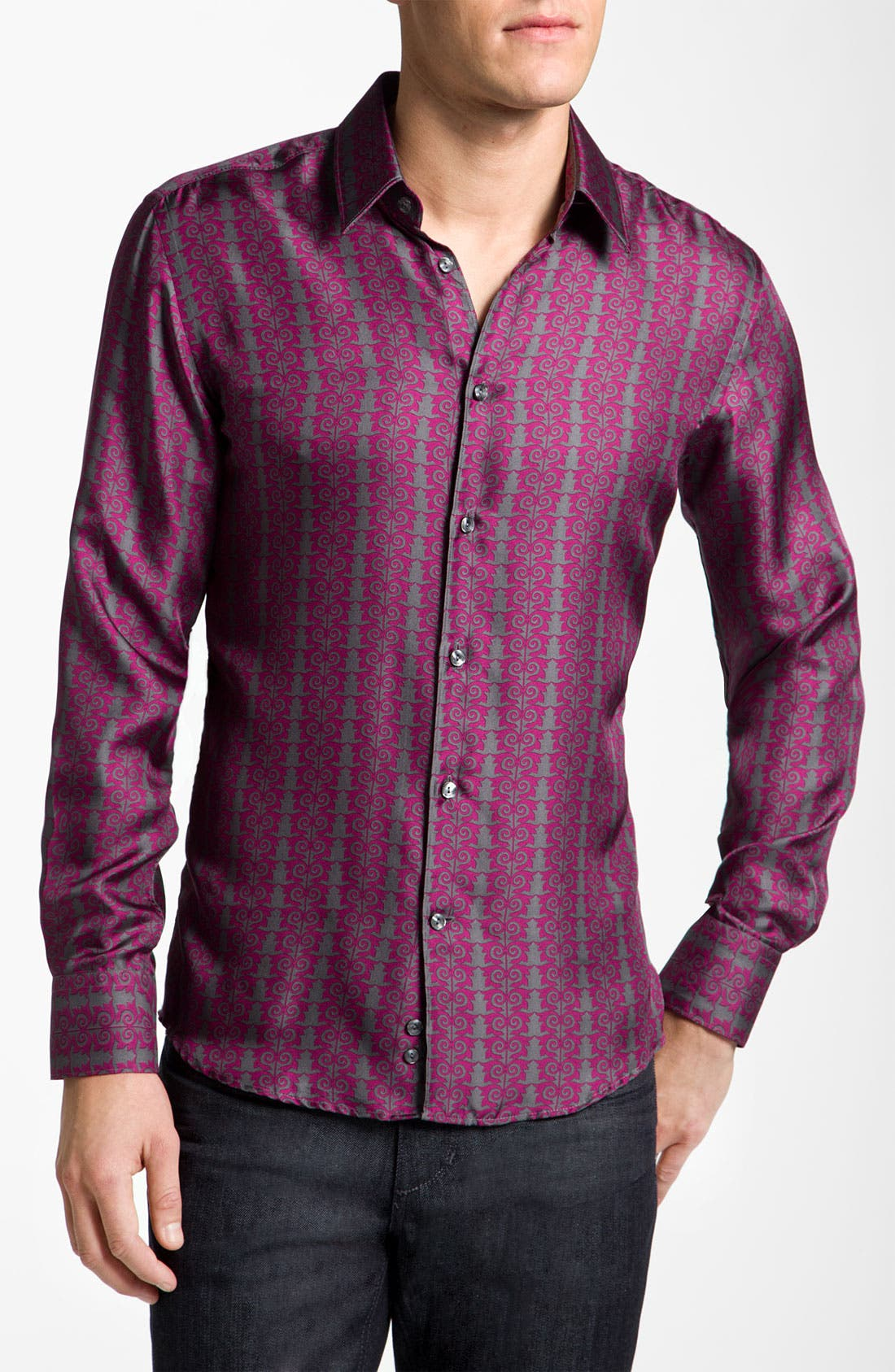 Alternate Image 1 Selected - Versace Silk Sport Shirt