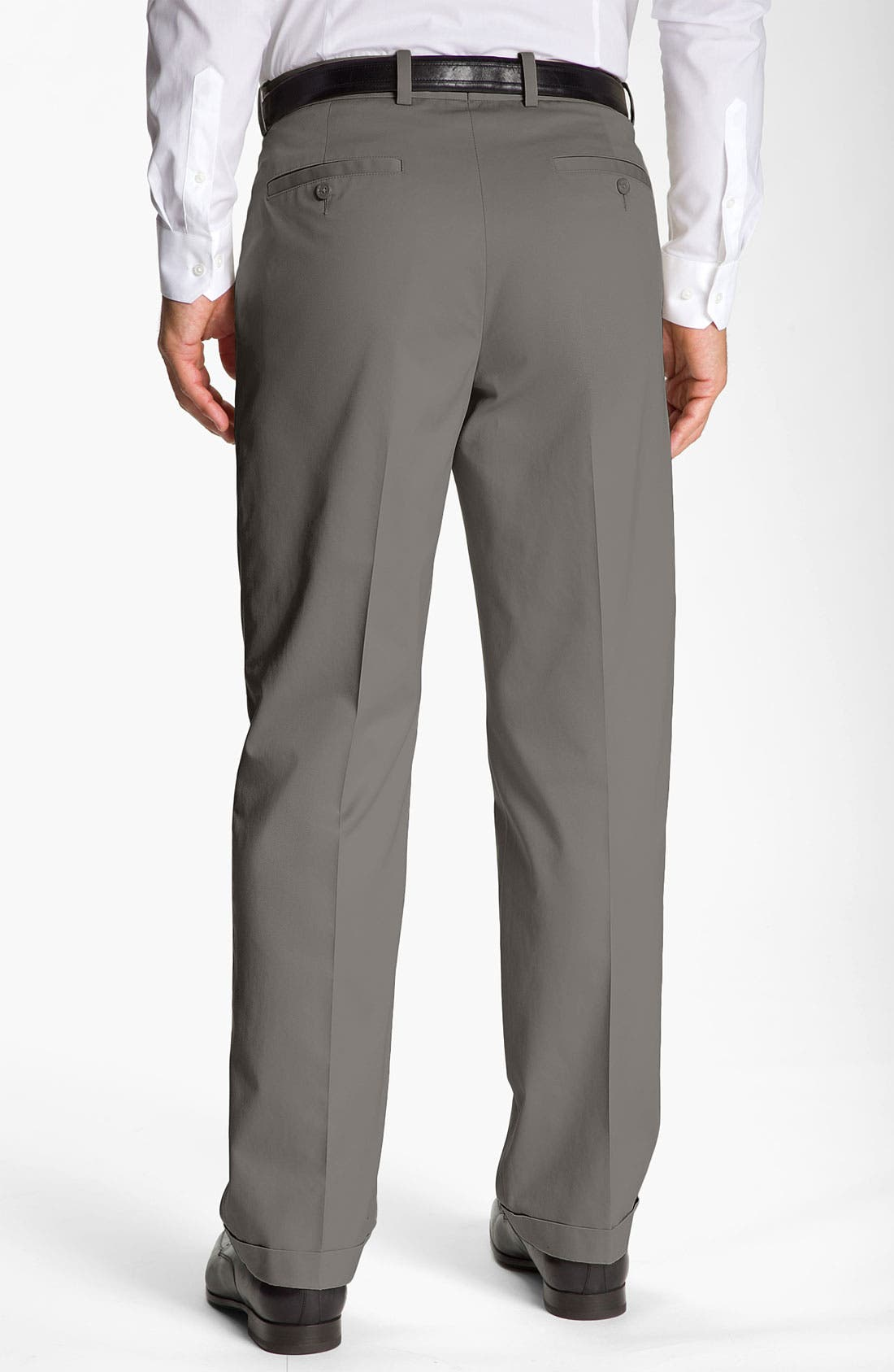 Alternate Image 2  - John W. Nordstrom® Smartcare™ Pleated Supima® Cotton Pants