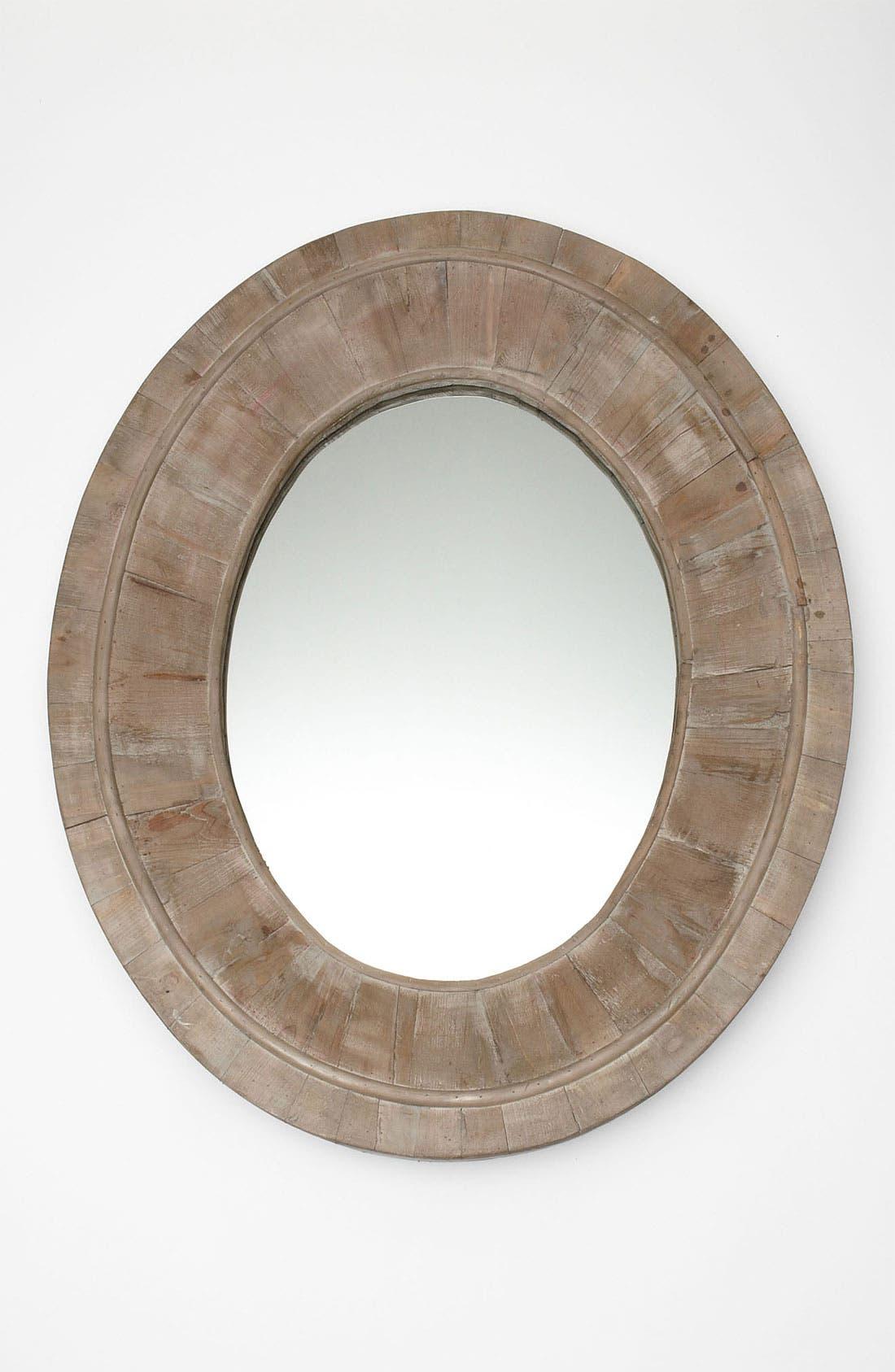 Main Image - Reclaimed Pine Oval Mirror