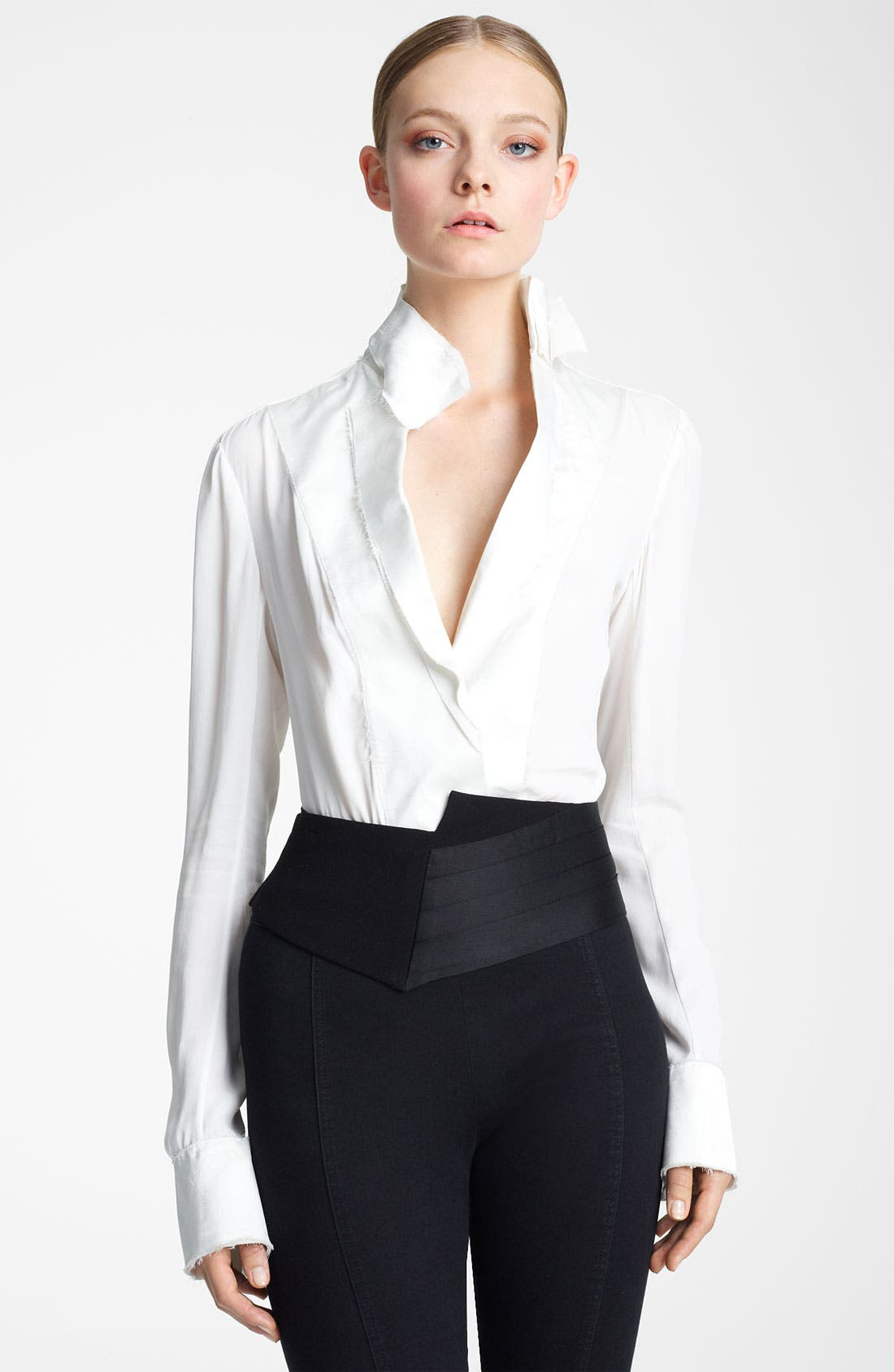 Alternate Image 1 Selected - Donna Karan Collection Spliced Cummerbund