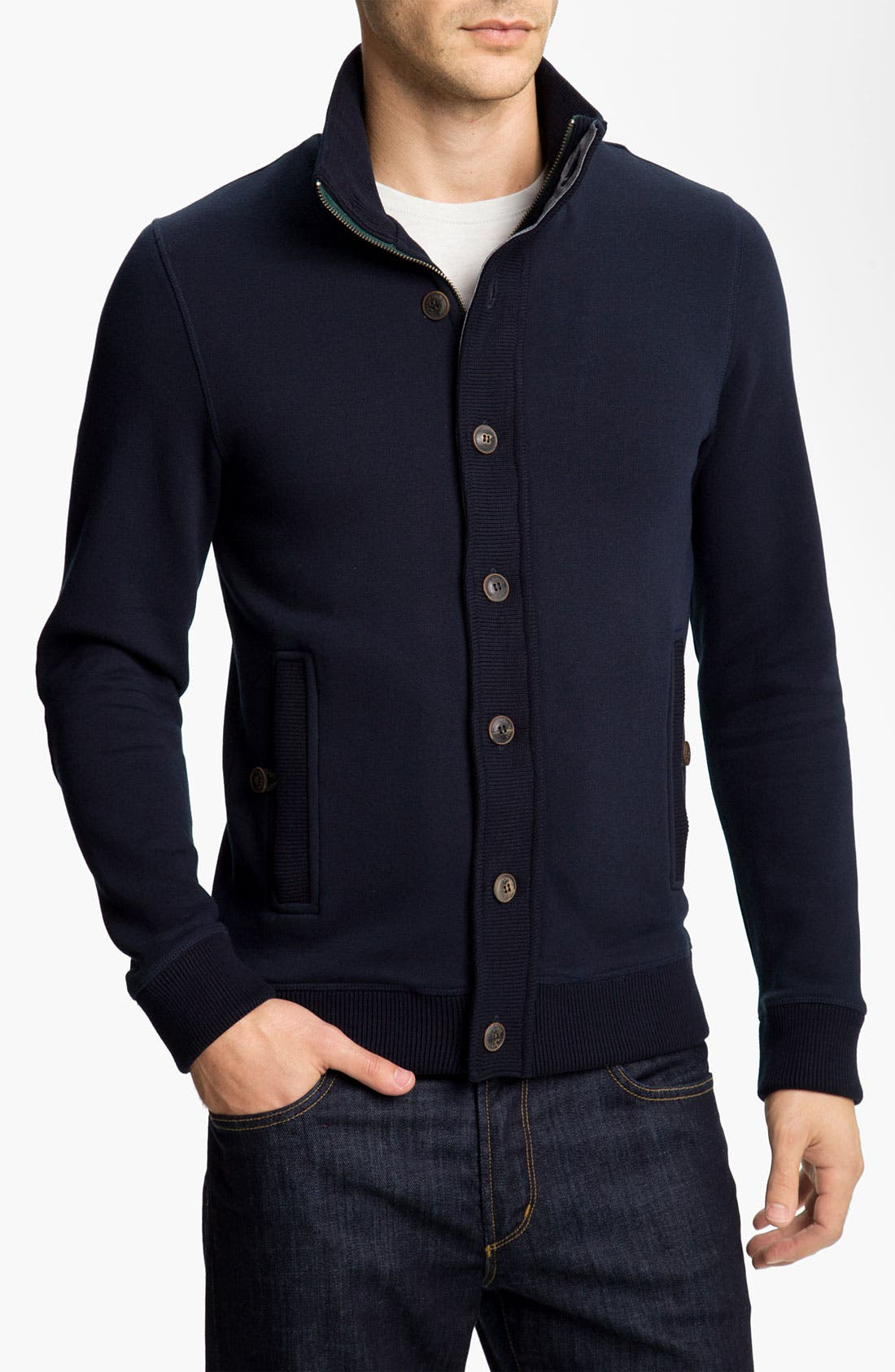 Main Image - Ted Baker London 'Nordman' Sweatshirt Cardigan