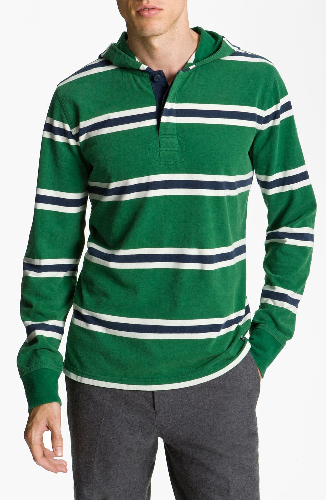 Main Image - Brooks Brothers Henley Hoodie