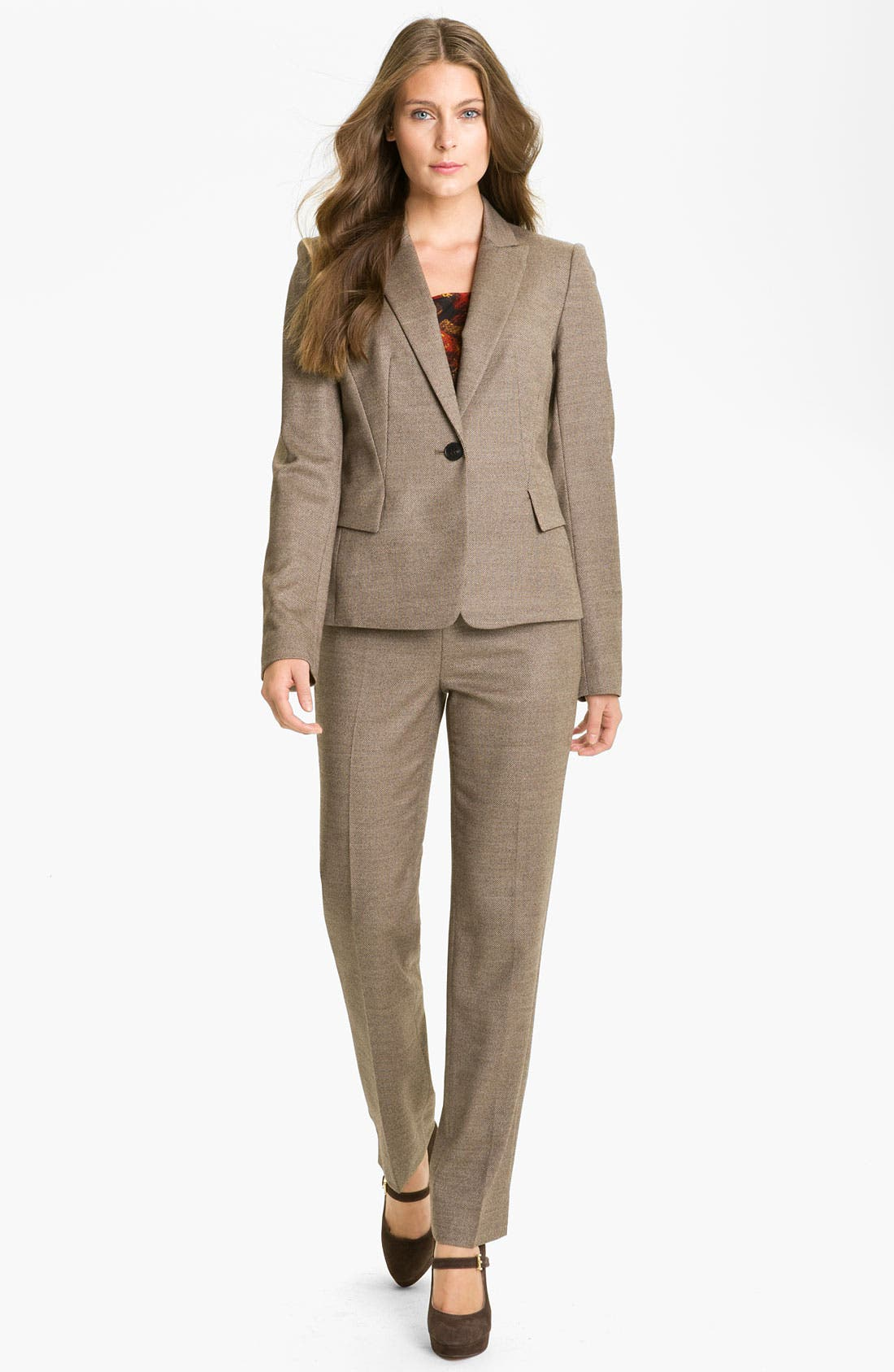 Alternate Image 4  - Lafayette 148 New York 'Bleecker - Poised' Suiting Pants