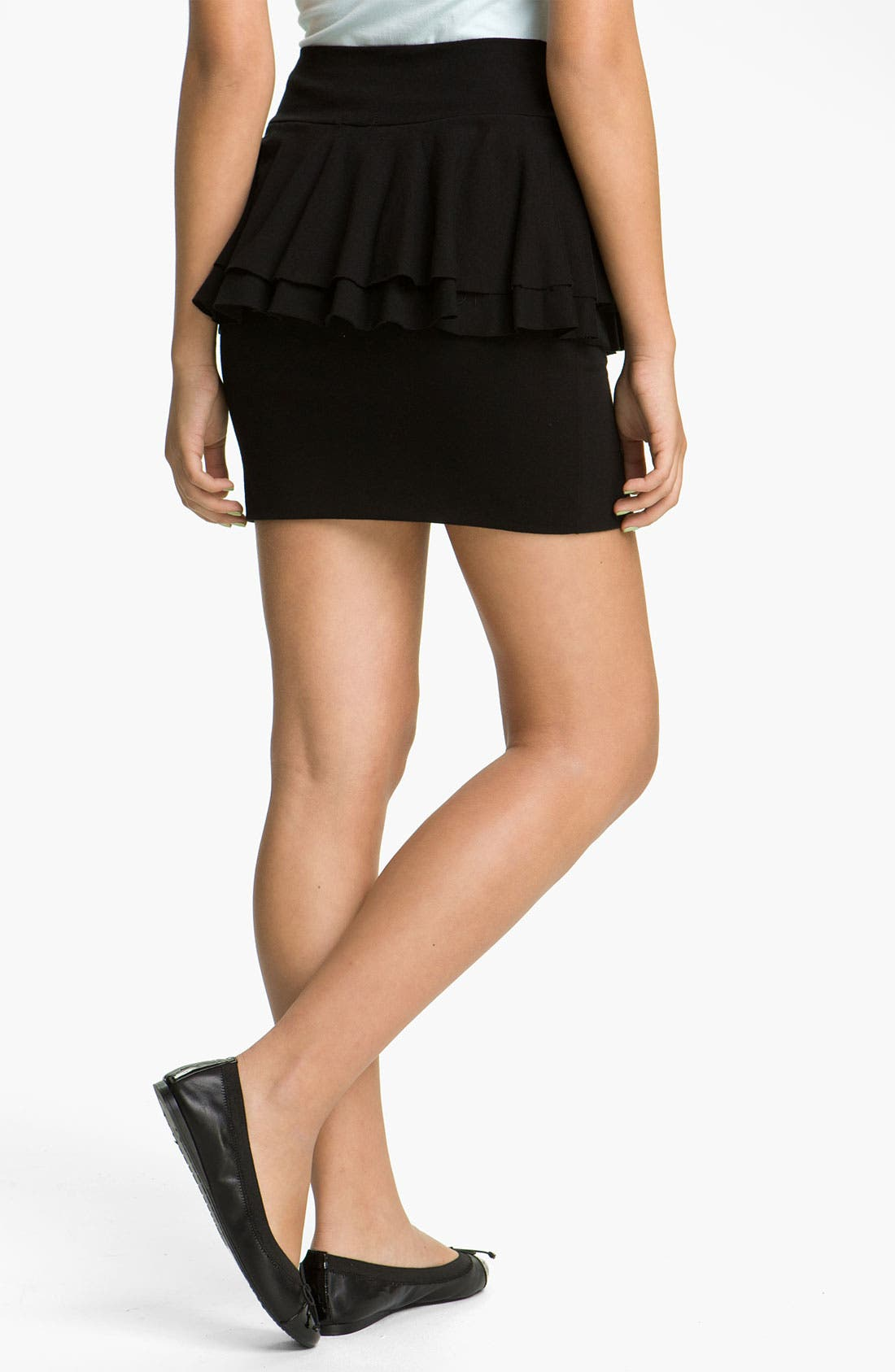 Alternate Image 2  - Lily White Peplum Skirt (Juniors)