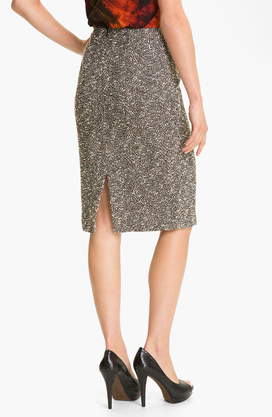 Alternate Image 2  - Lafayette 148 New York 'Bijoux' Slim Tweed Skirt