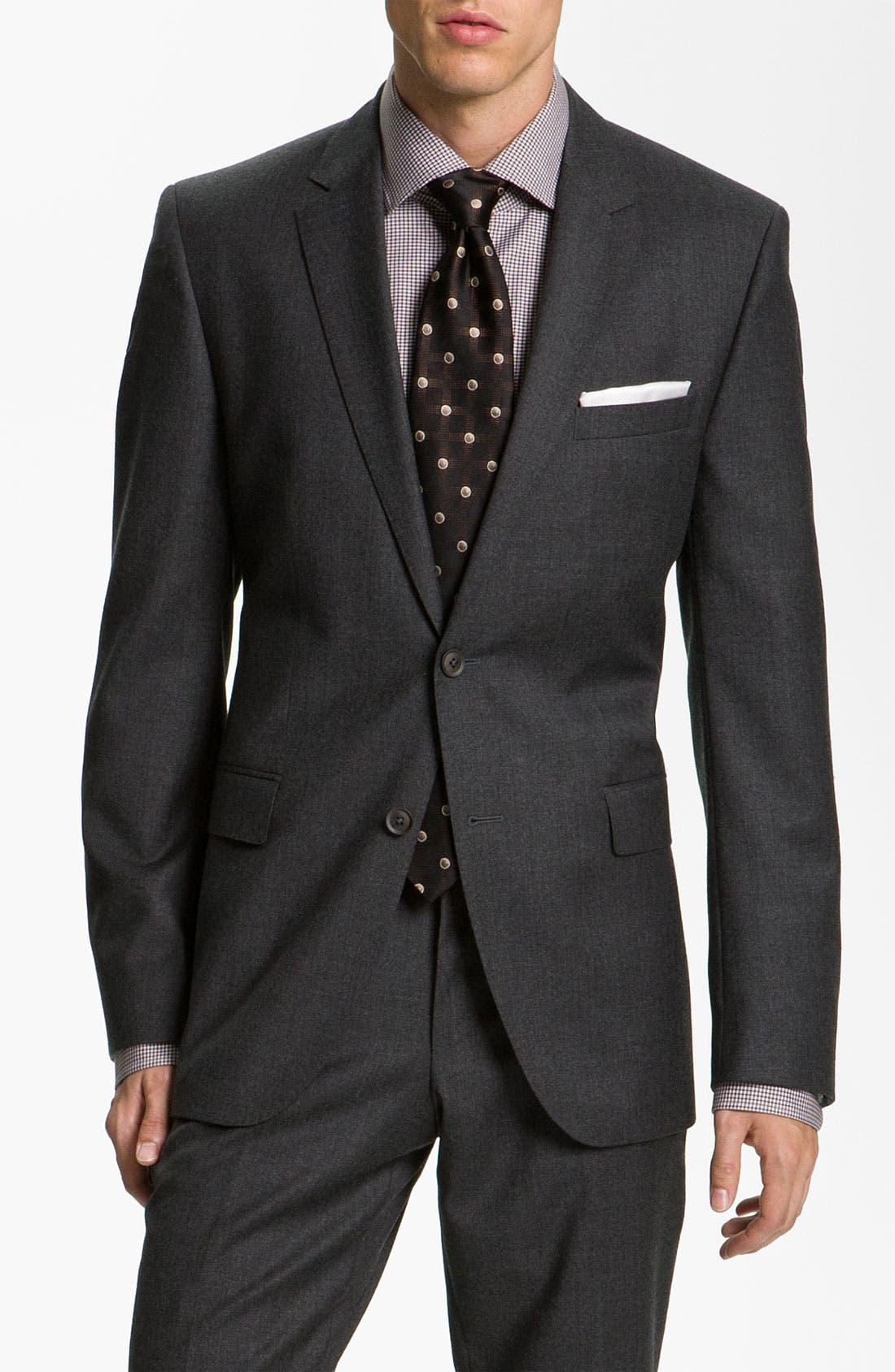Alternate Image 1 Selected - BOSS Black Suit, Dress Shirt, & Tie
