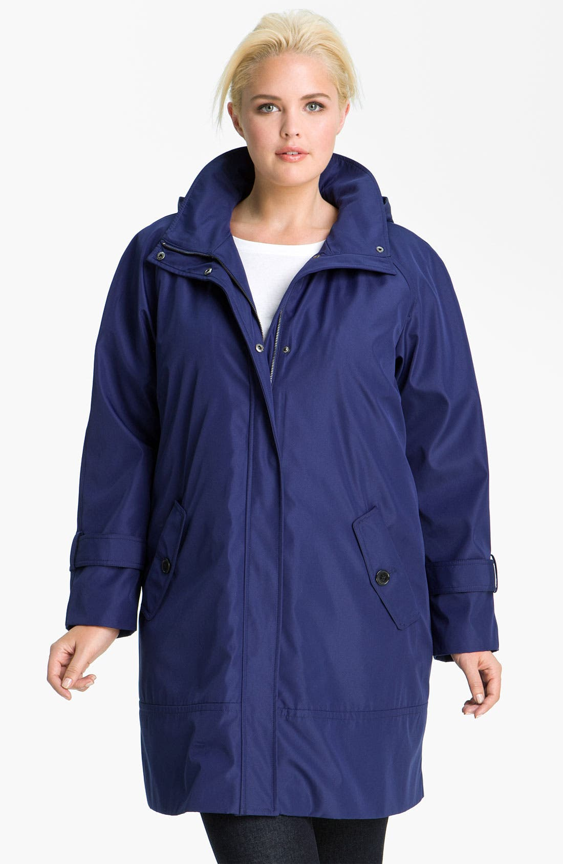 Main Image - Marc New York by Andrew Marc 'Caroll' Raincoat with Detachable Liner (Plus)