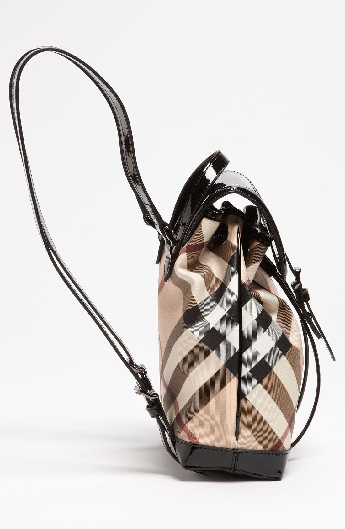 Alternate Image 2  - Burberry 'House Check' Backpack (Girls)