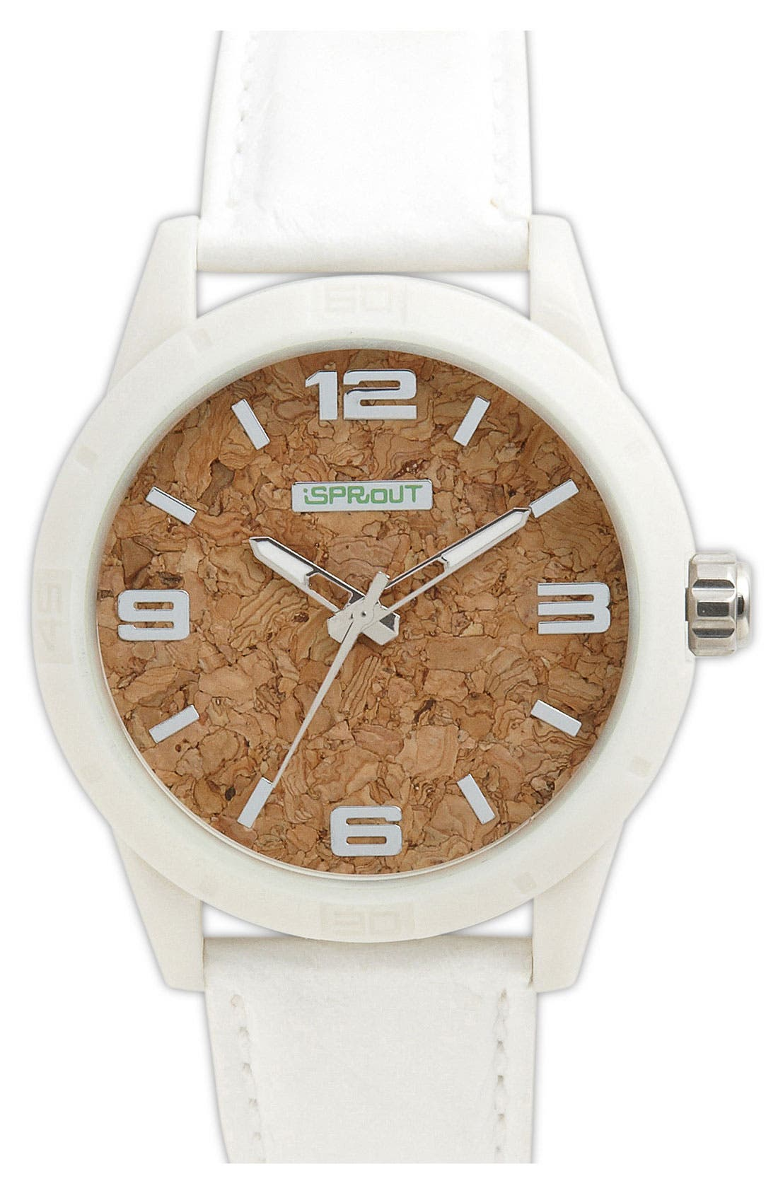 Main Image - SPROUT™ Watches Cork Dial Watch, 45mm