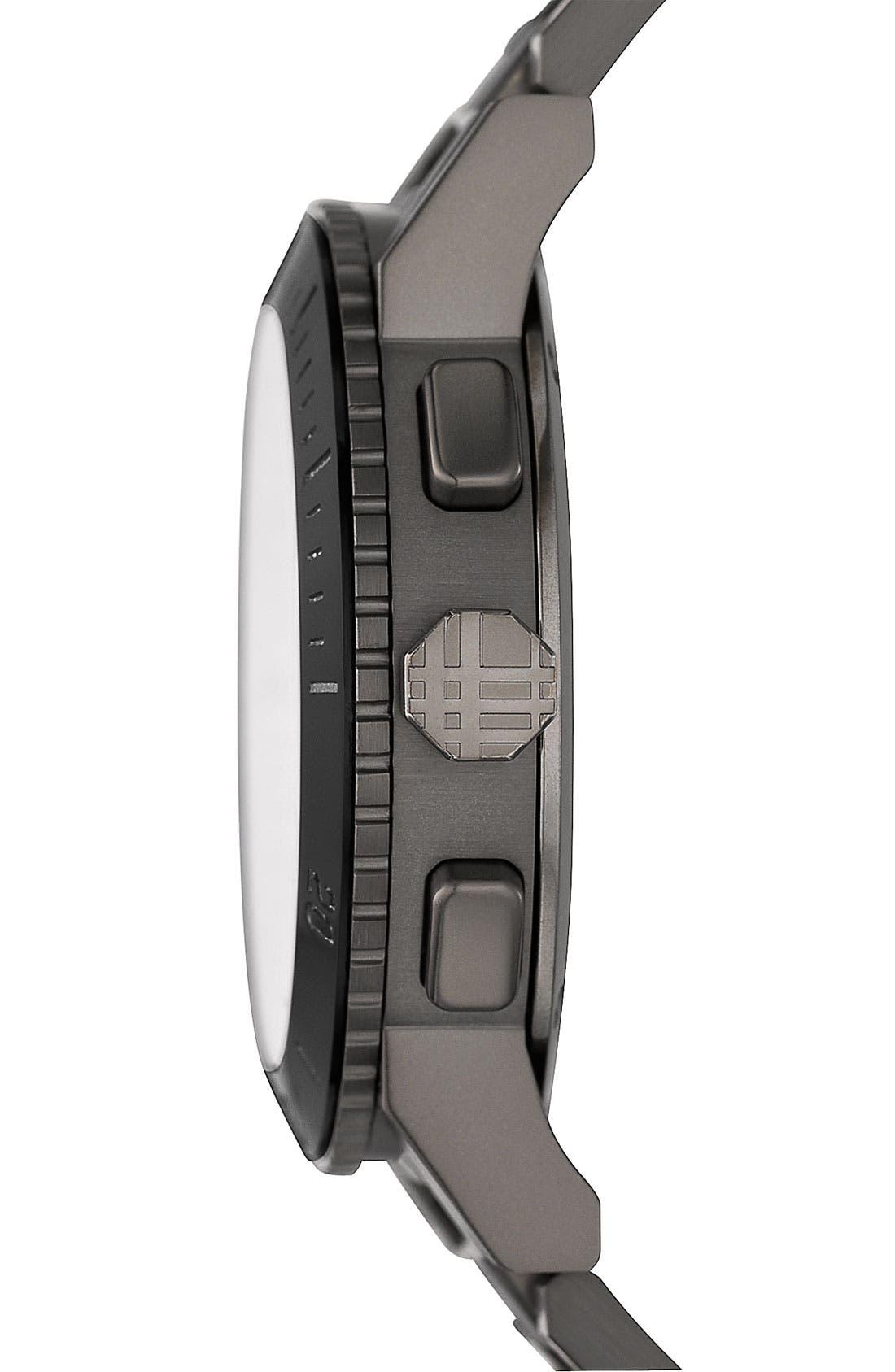 Alternate Image 2  - Burberry Check Stamped Bracelet Watch, 42mm