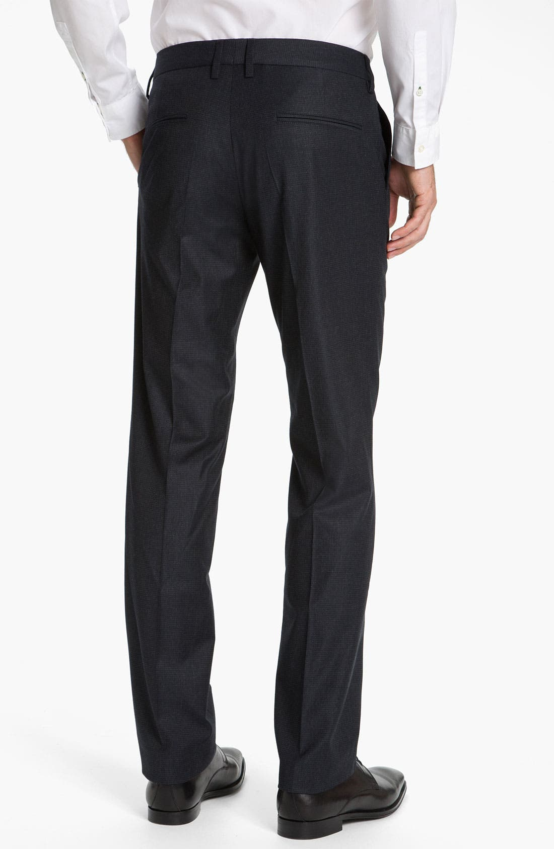 Alternate Image 2  - BOSS Black 'Crigan' Flat Front Trousers