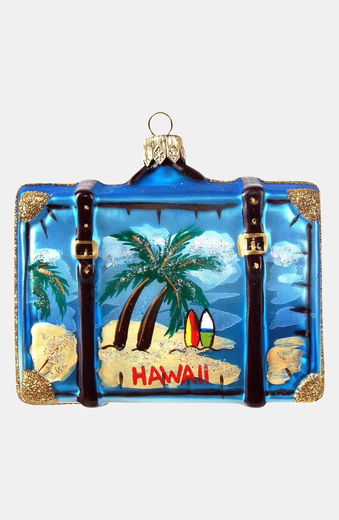 Alternate Image 1 Selected - Nordstrom at Home 'Hawaii' Glass Suitcase Ornament