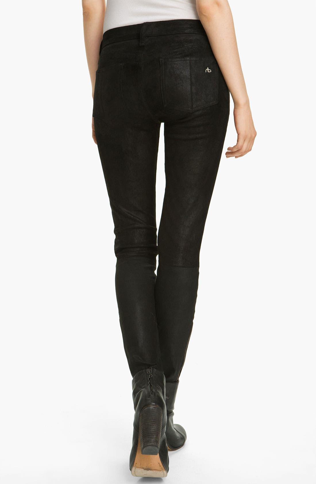 Alternate Image 2  - rag & bone/JEAN Stretch Leather Leggings
