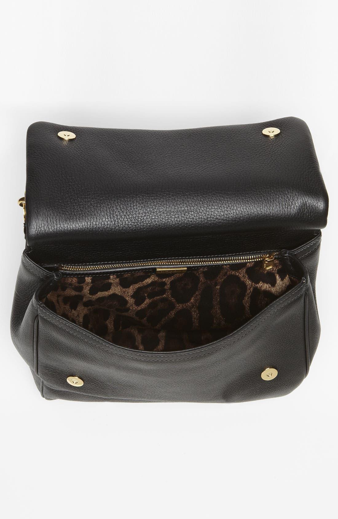 Alternate Image 3  - Dolce&Gabbana 'Flat Miss Sicily - Large' Leather Satchel