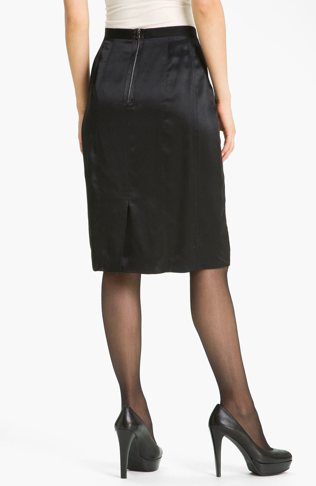 Alternate Image 2  - Magaschoni Silk Charmeuse Skirt