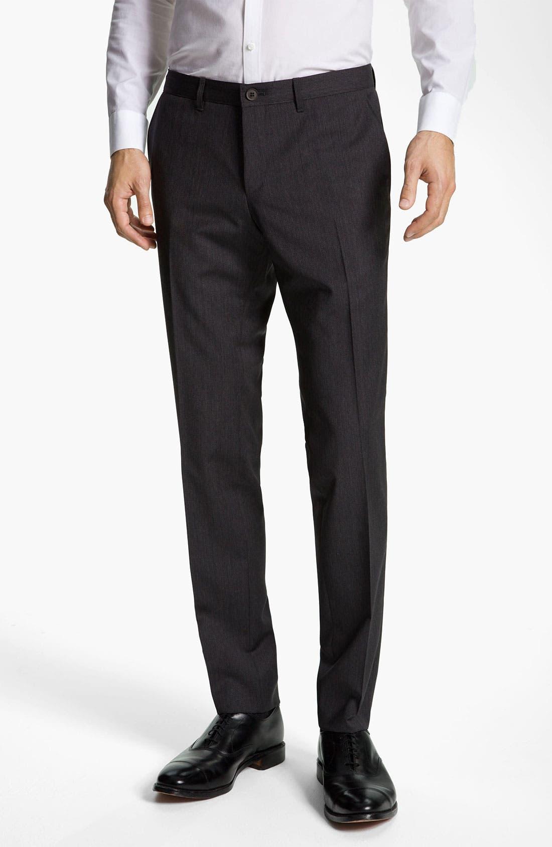 Main Image - BOSS Black 'Winng' Extra Slim Wool Trousers