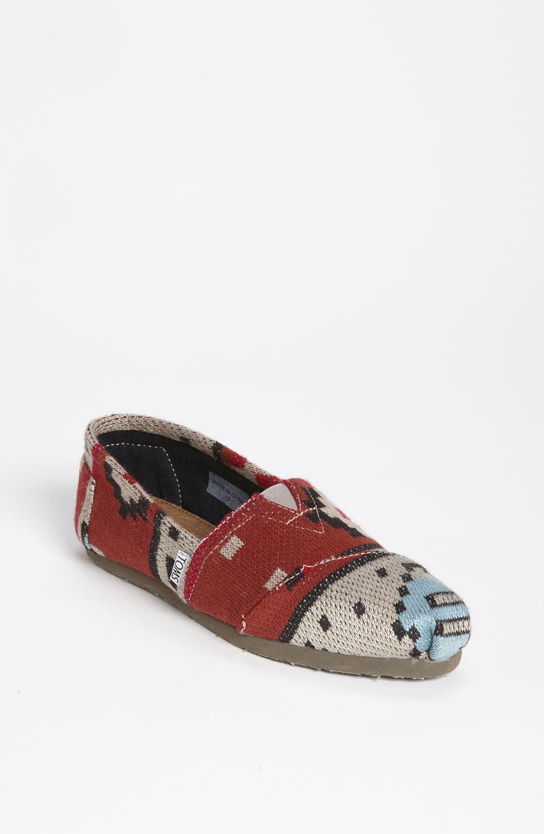 Main Image - TOMS 'Classic - Tribal' Knit Slip-On (Women)