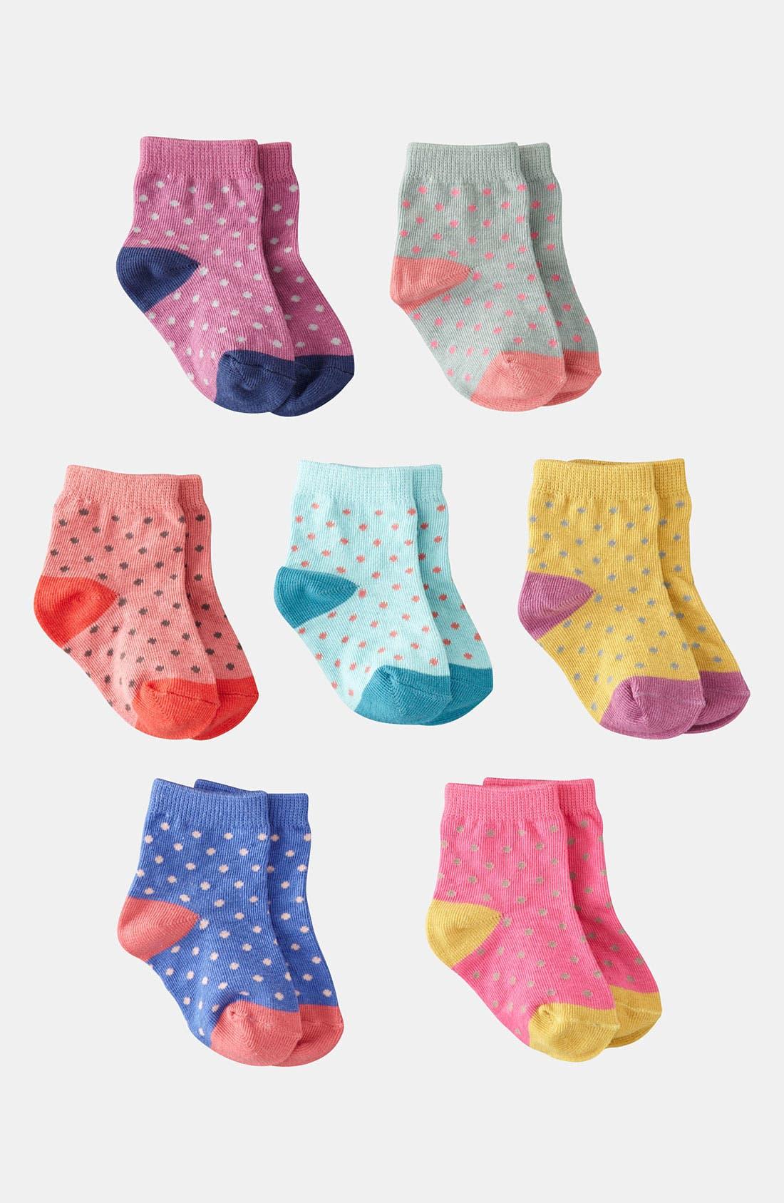 Alternate Image 1 Selected - Mini Boden Socks (7-Pack) (Infant & Toddler)