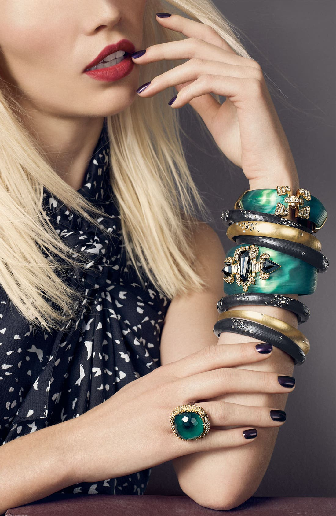 Alternate Image 3  - Alexis Bittar 'Dust' Skinny Tapered Bangle (Nordstrom Exclusive)