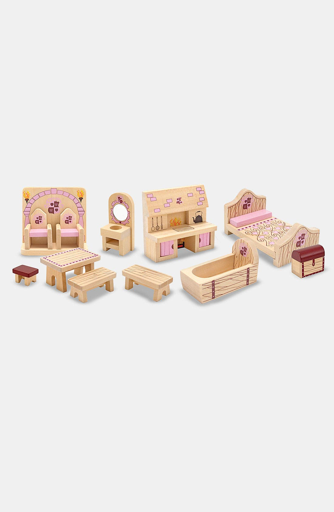 Alternate Image 2  - Melissa & Doug 'Princess Castle' Furniture Set (12-Piece Set)