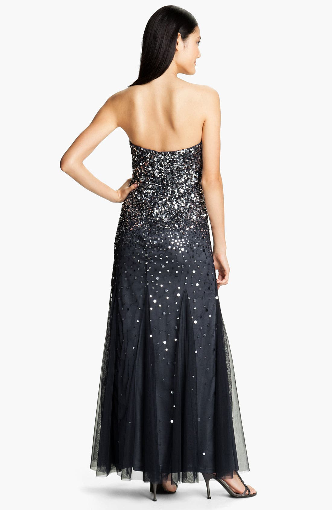 Alternate Image 2  - Adrianna Papell Strapless Sequin Godet Gown
