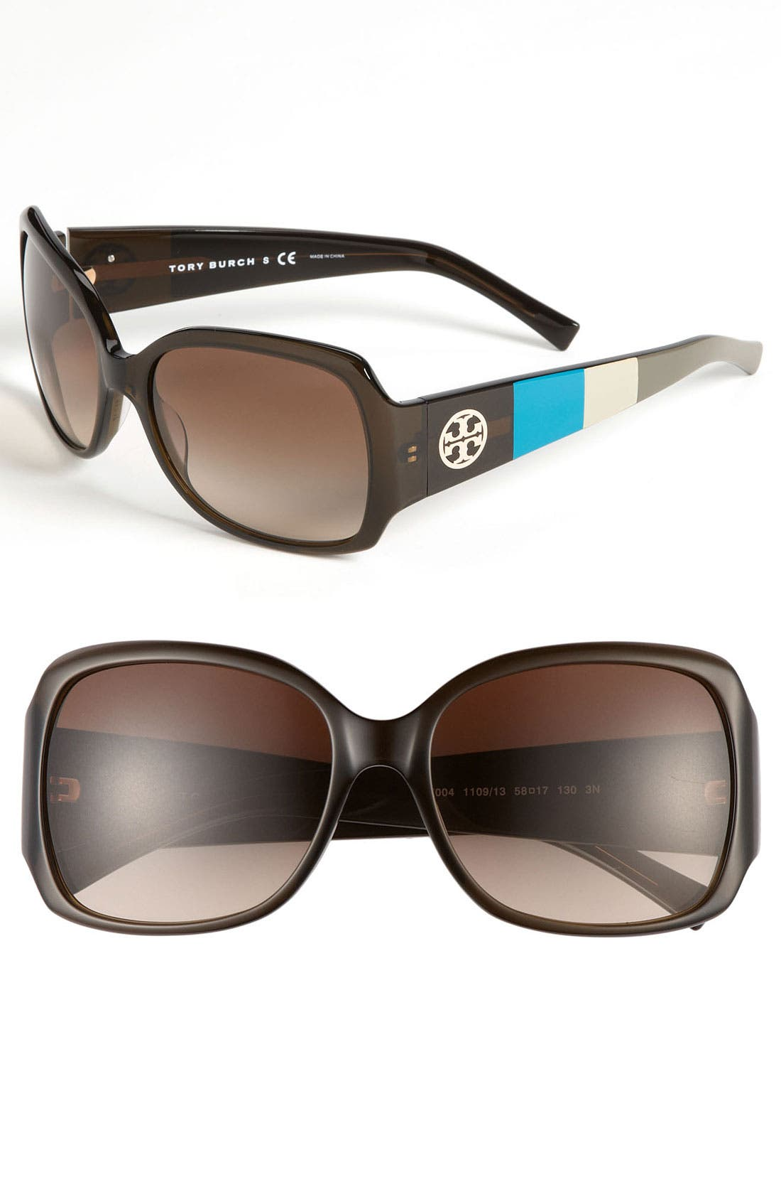 Main Image - Tory Burch 58mm Oversized Square Sunglasses