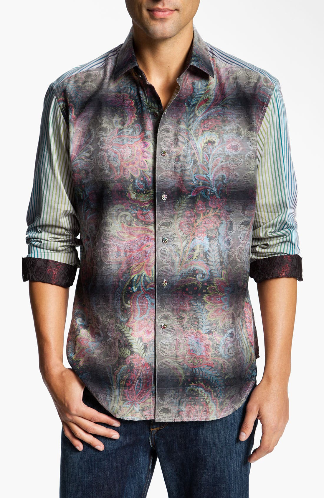 Alternate Image 1 Selected - Robert Graham 'Quintain' Sport Shirt (Limited Edition)