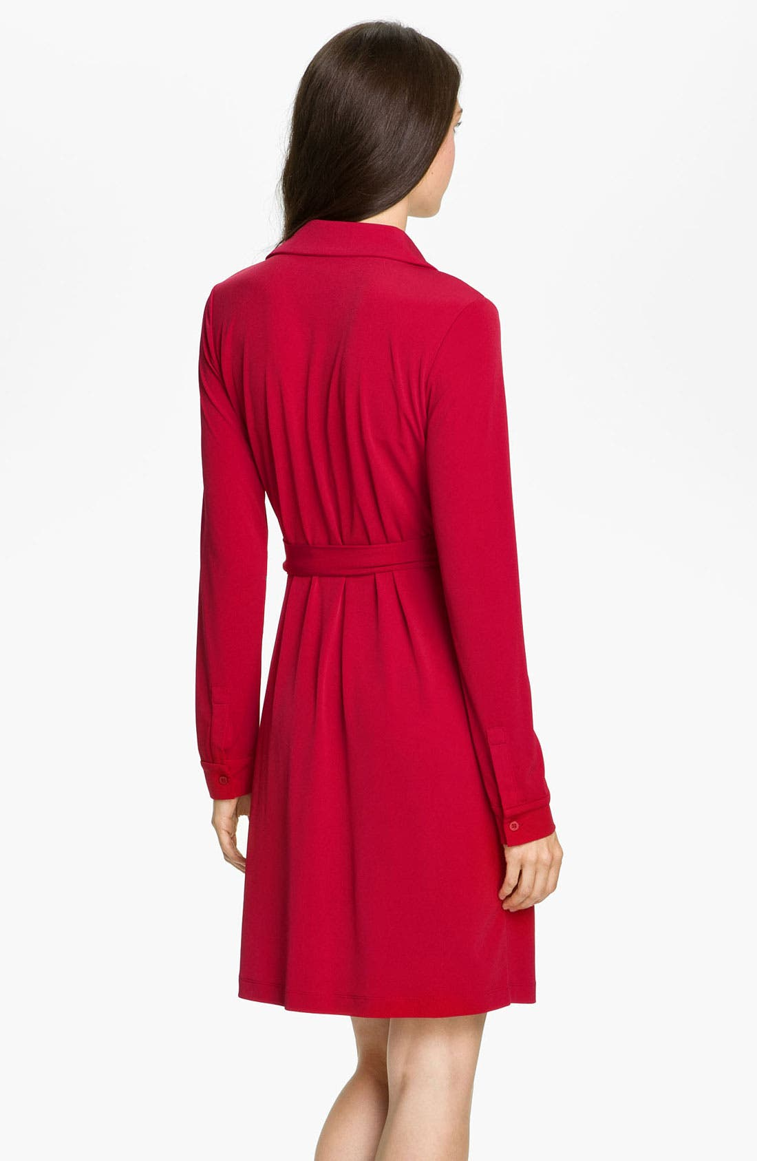 Alternate Image 2  - Calvin Klein Collared Jersey Wrap Dress