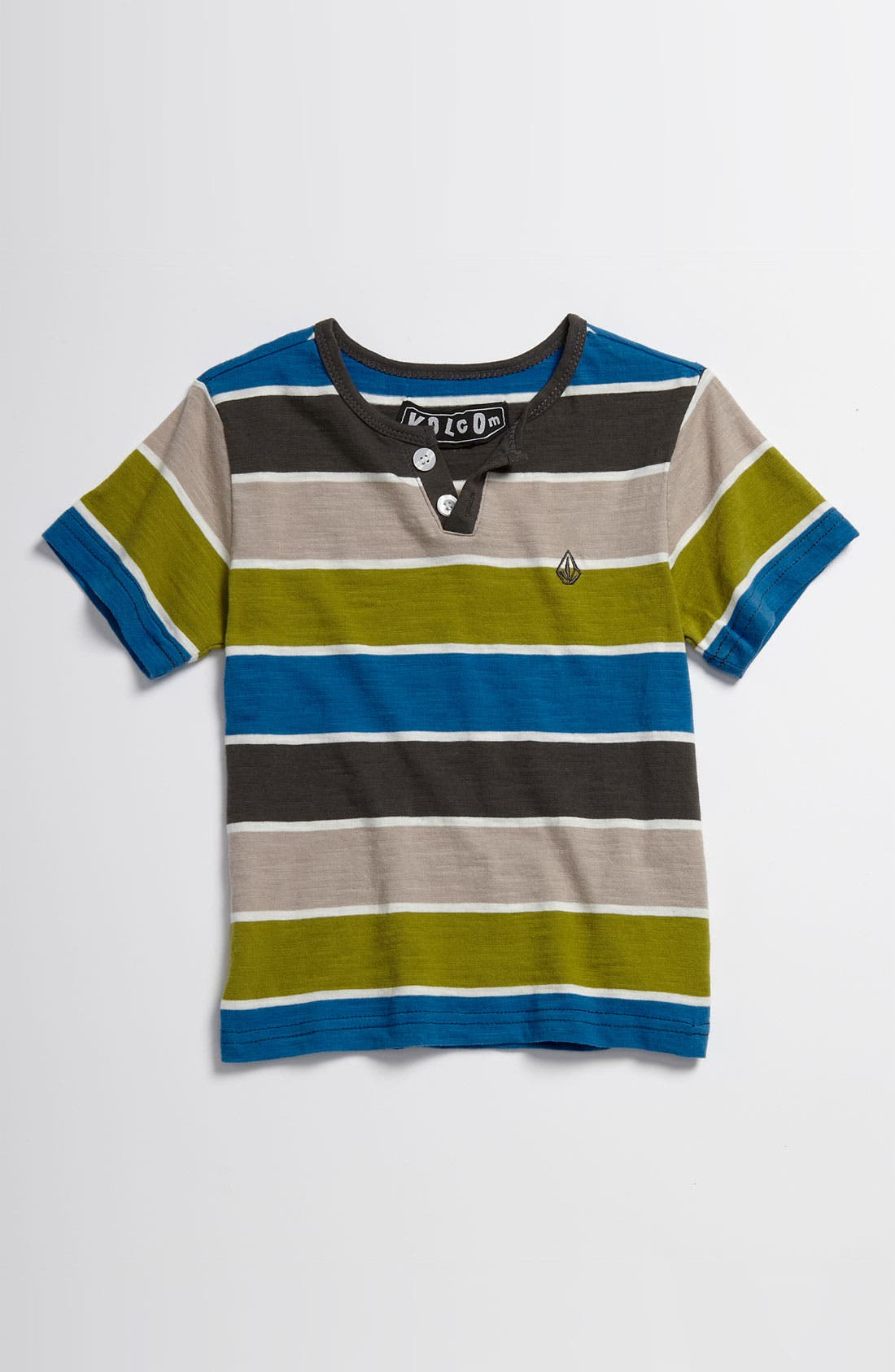 Main Image - Volcom 'Lingo' Henley Shirt (Little Boys)
