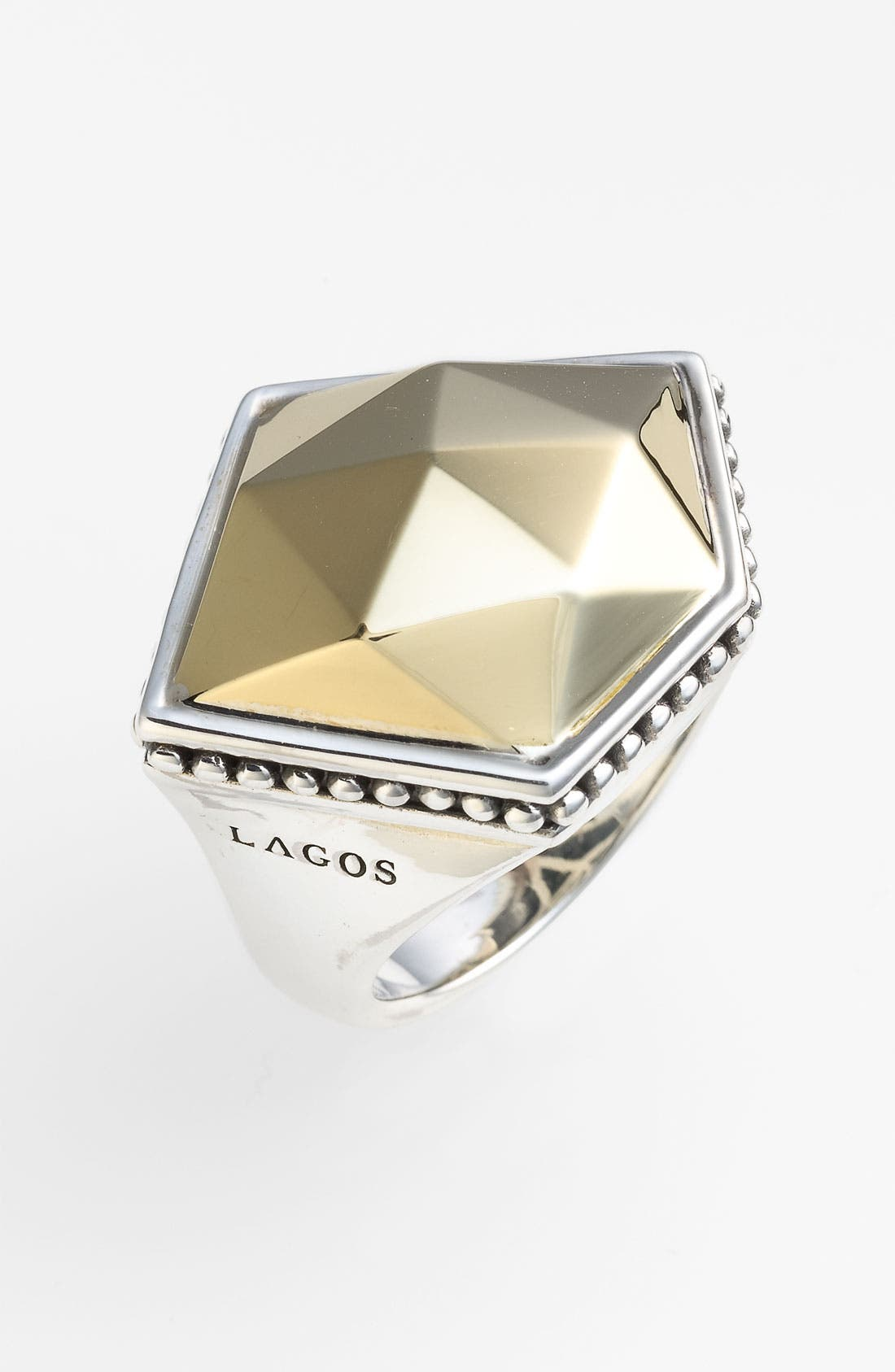 Alternate Image 1 Selected - LAGOS 'Rocks' Angled Two Tone Ring