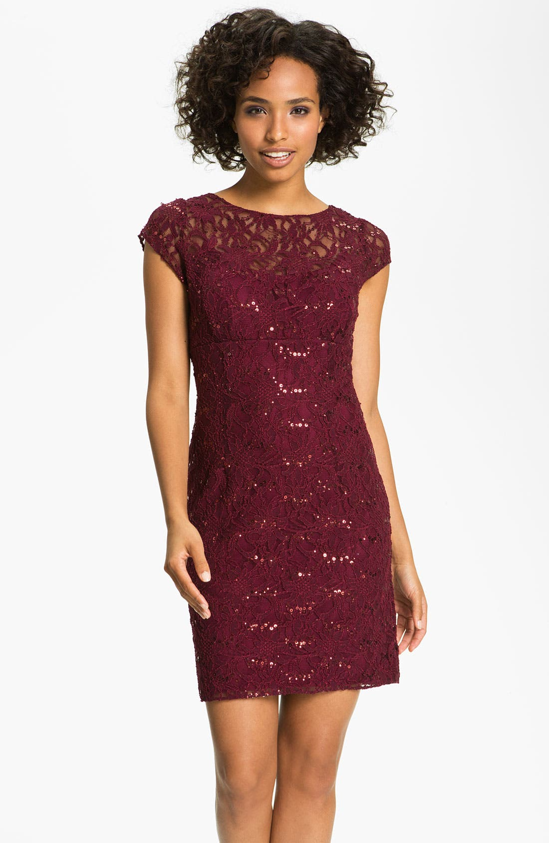 Alternate Image 1  - Hailey by Adrianna Papell Embellished Lace Sheath Dress (Online Only)