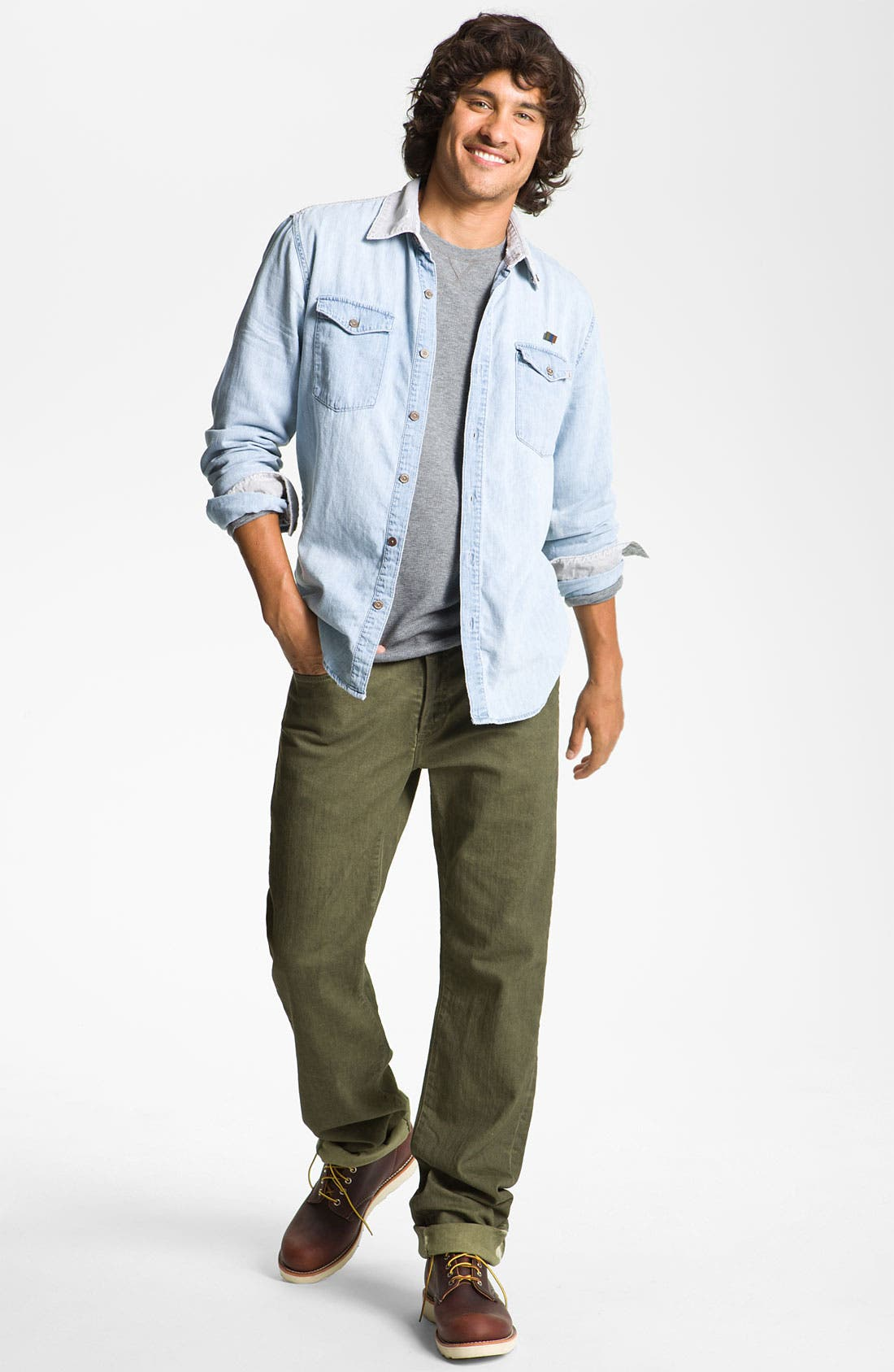 Alternate Image 5  - PAIGE 'Normandie' Straight Leg Jeans (Bayou)