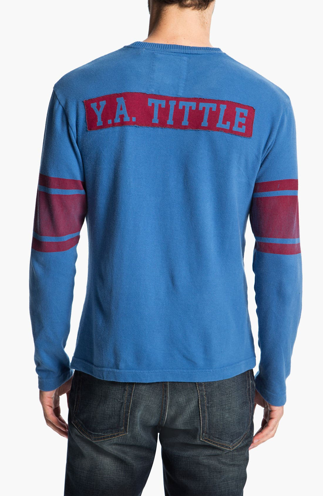 Alternate Image 2  - Red Jacket 'Y.A. Tittle - Bulldog' Long Sleeve T-Shirt