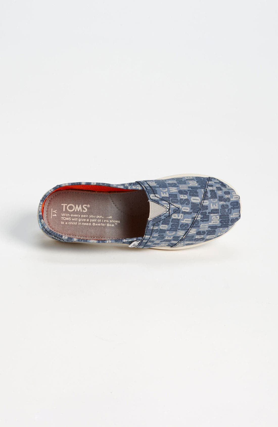 Alternate Image 3  - TOMS 'Classic Youth - Ash' Slip-On (Toddler, Little Kid & Big Kid)