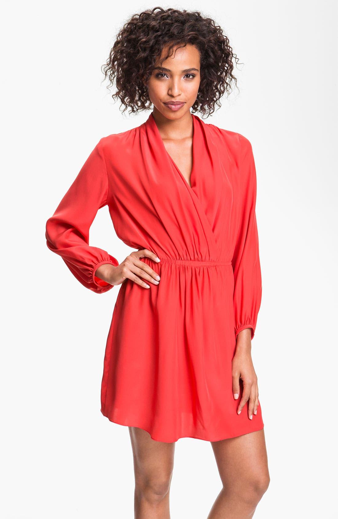 Alternate Image 1 Selected - ALICE & TRIXIE 'Joyce' Surplice Silk Blouson Dress