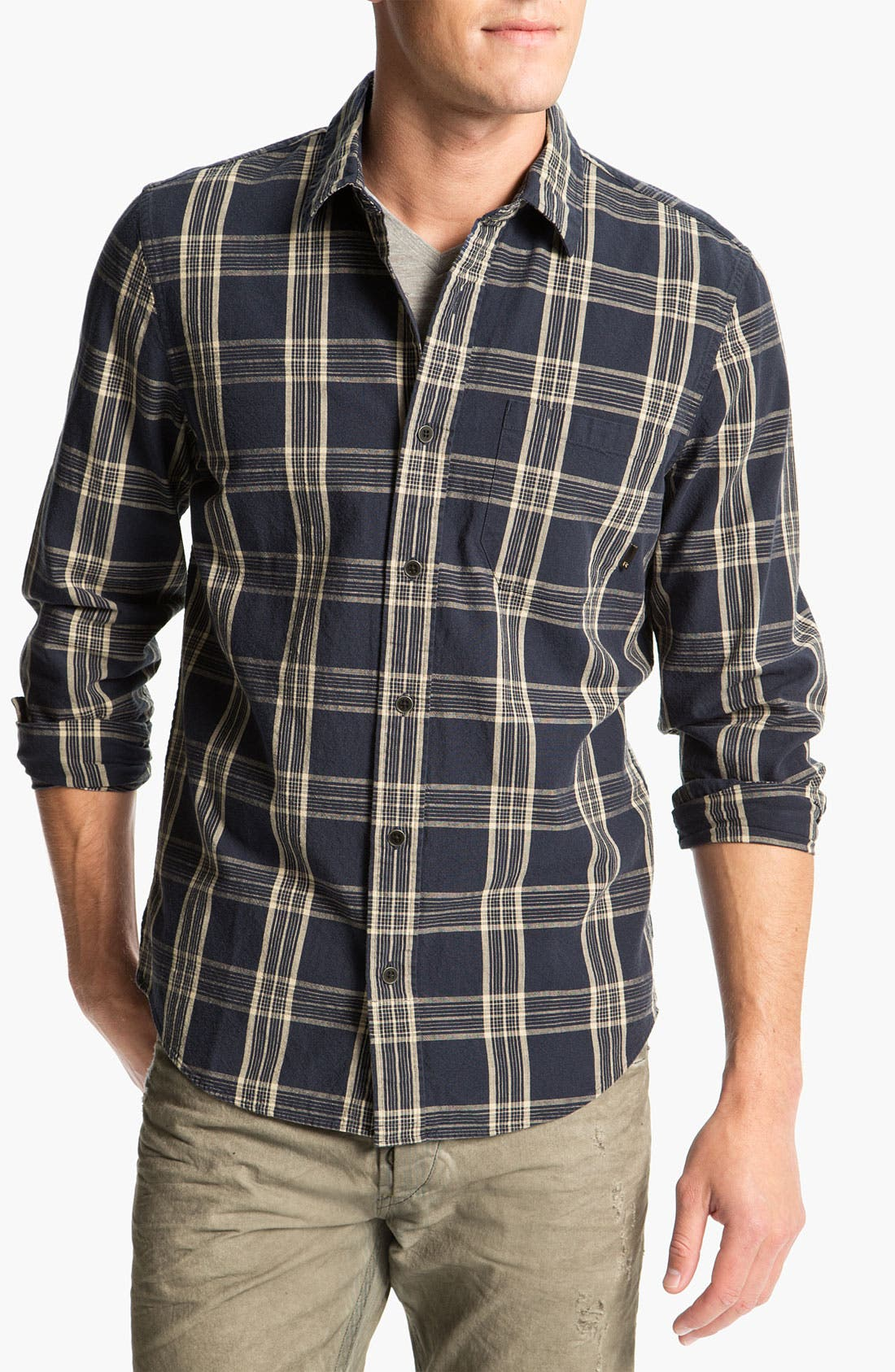 Main Image - R44 Rogan Standard Issue Plaid Woven Shirt