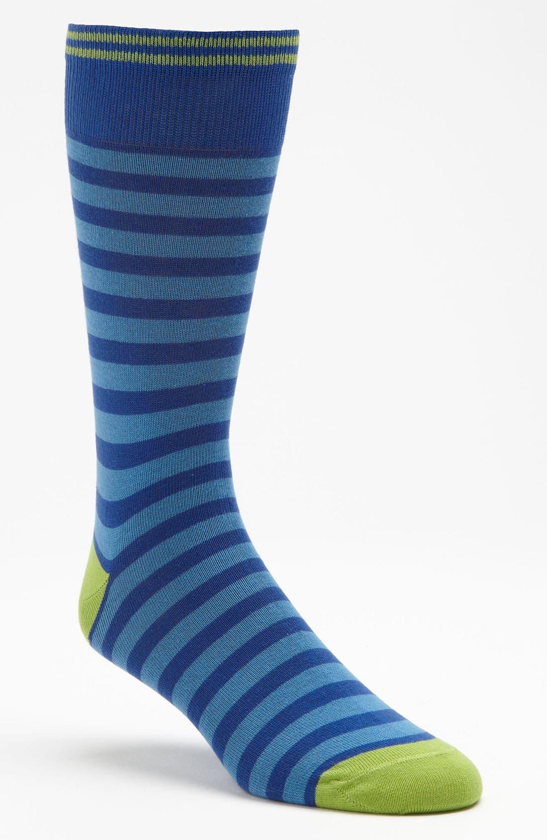 Main Image - Lorenzo Uomo Rugby Stripe Socks