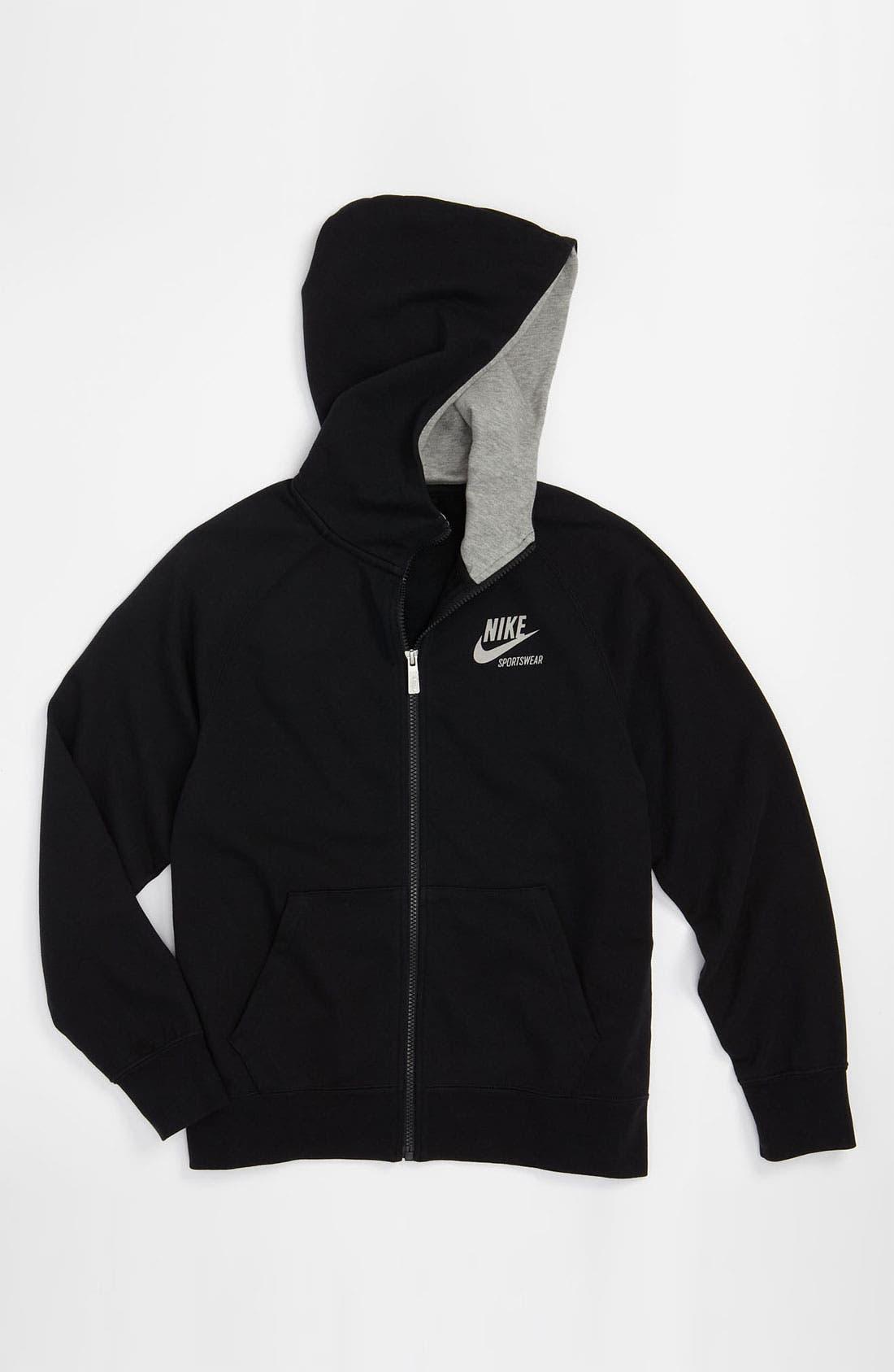 Alternate Image 1 Selected - Nike 'AW77 FZ' Zip Hoodie (Big Boys)