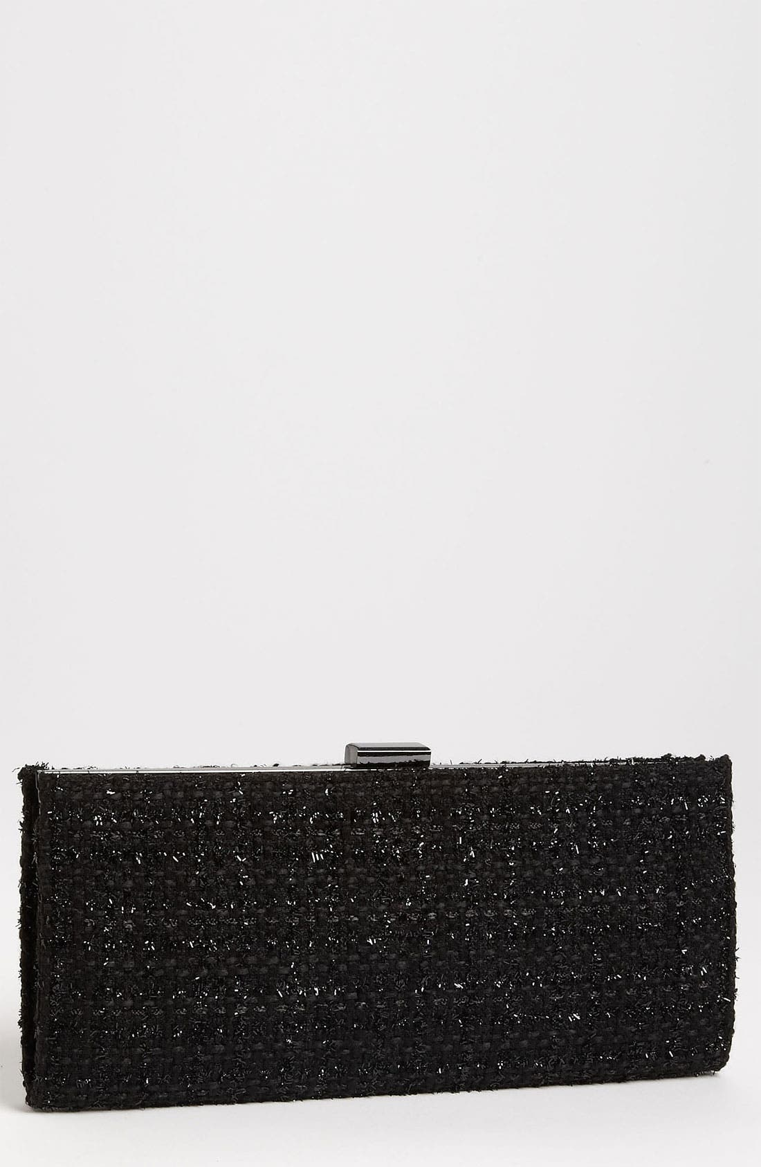 Alternate Image 1 Selected - Jessica McClintock Elongated Tweed Clutch