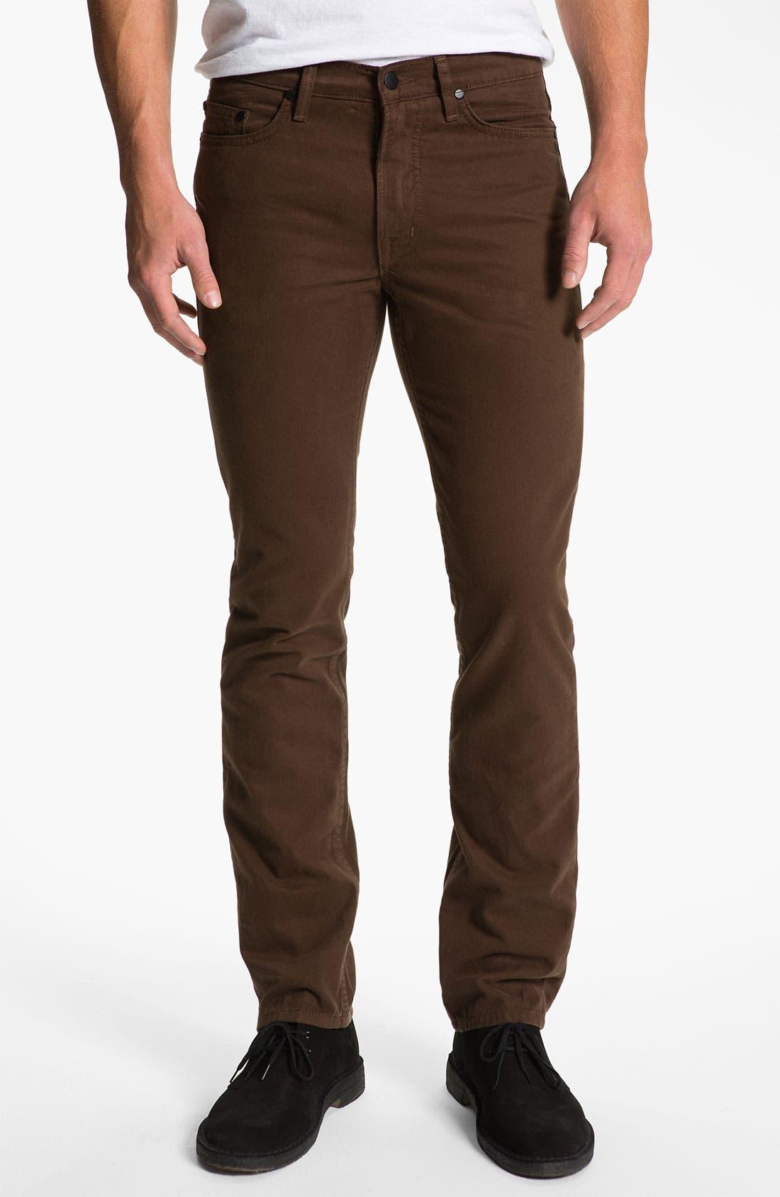 Alternate Image 2  - Comune 'Ricky' Slim Straight Leg Jeans (Espresso)