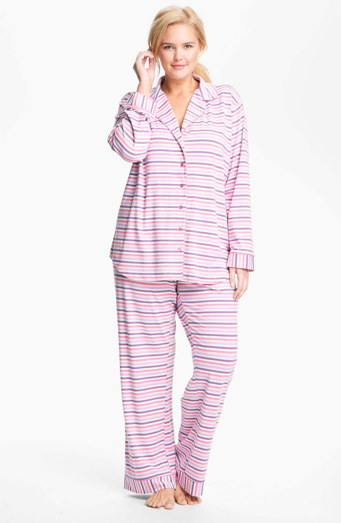 Alternate Image 1 Selected - Nordstrom Knit Pajamas (Plus)