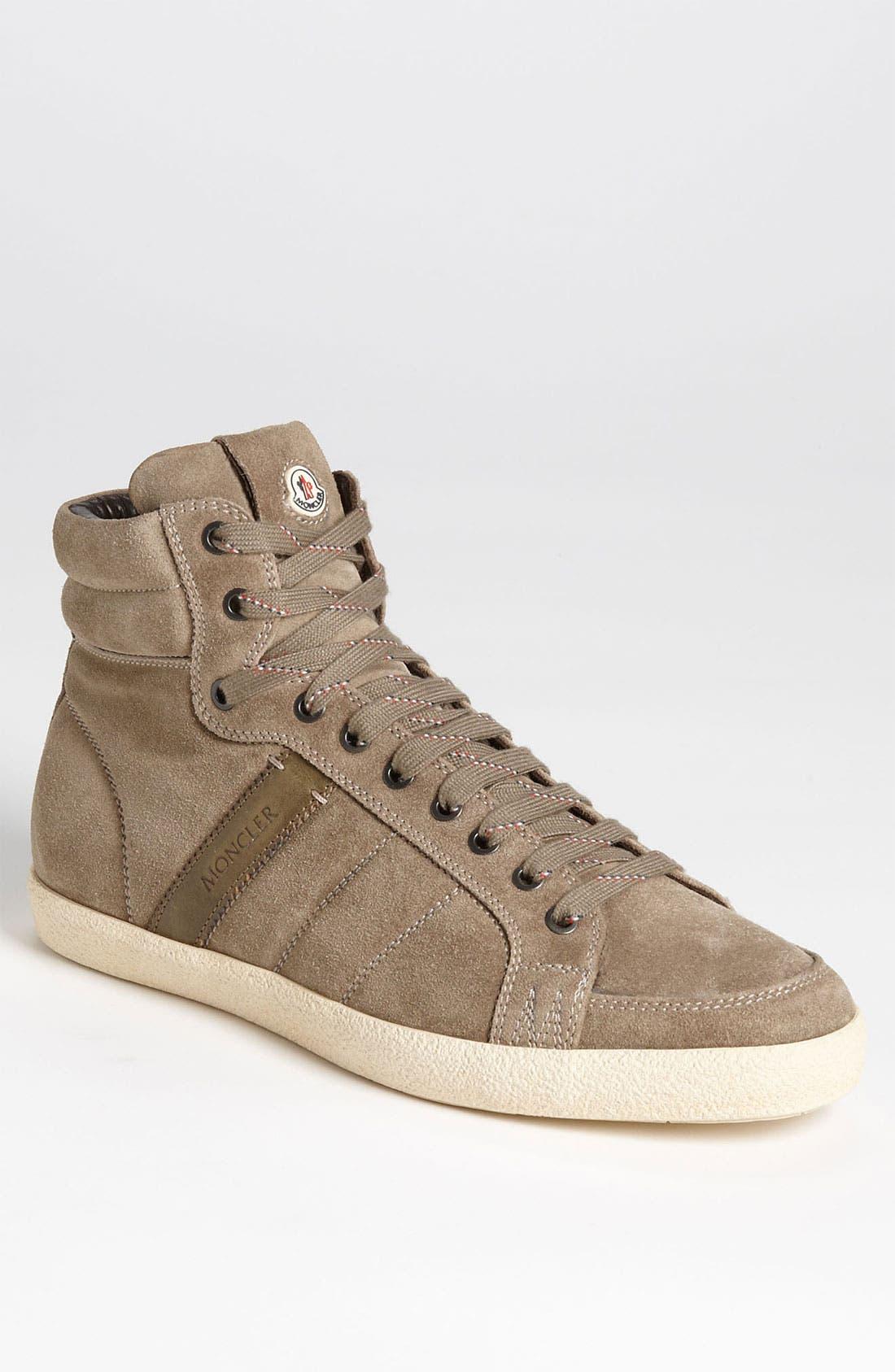 Alternate Image 1 Selected - Moncler 'Lyon' Suede Sneaker (Men)